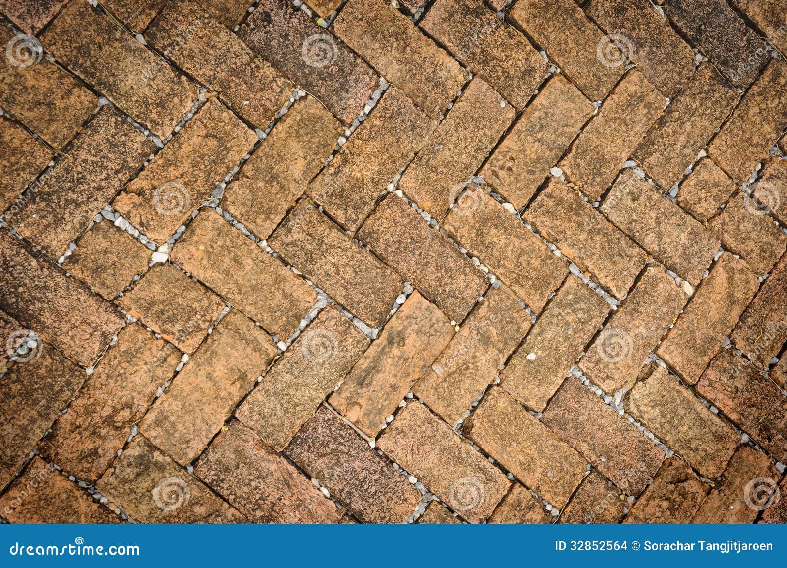 Vieja textura sucia del piso de la piedra del ladrillo - Patio piso de ladrillo ...