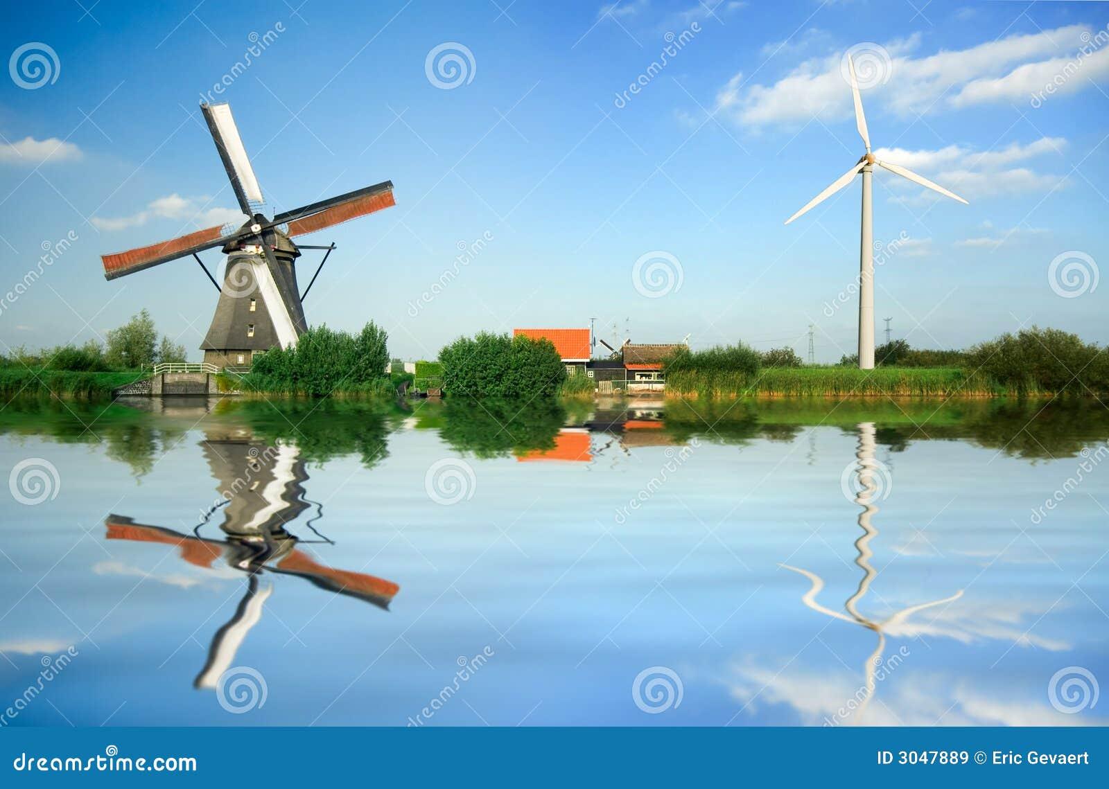 Vieja y nueva energía eólica