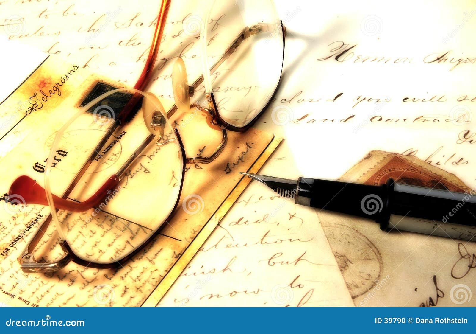 Download Viejas cartas foto de archivo. Imagen de pluma, negocios - 39790