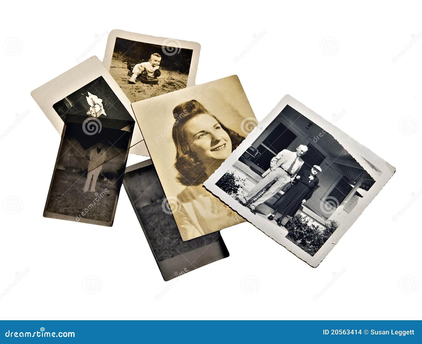 Viejas fotos y negativas de familia
