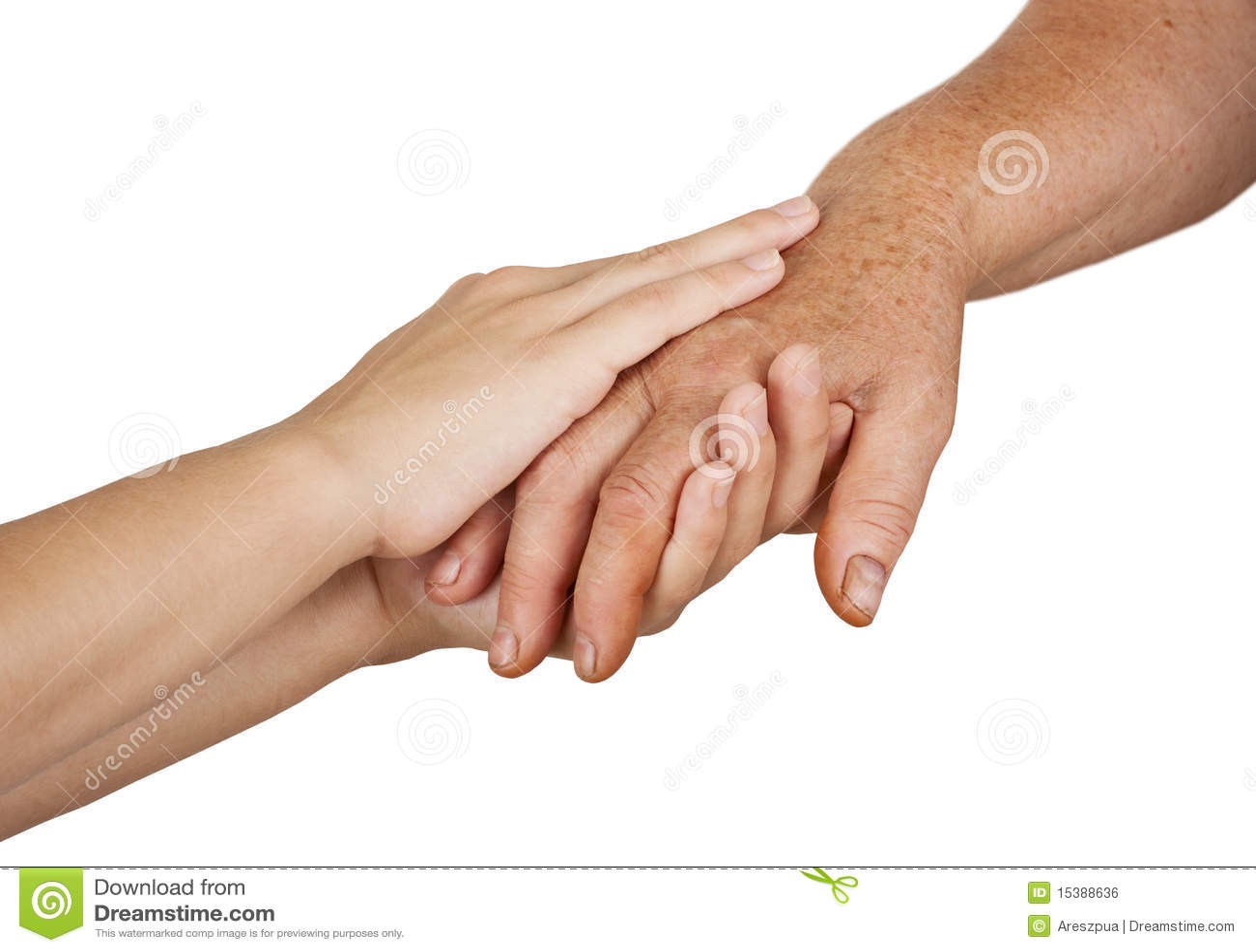 Viejas y jovenes manos