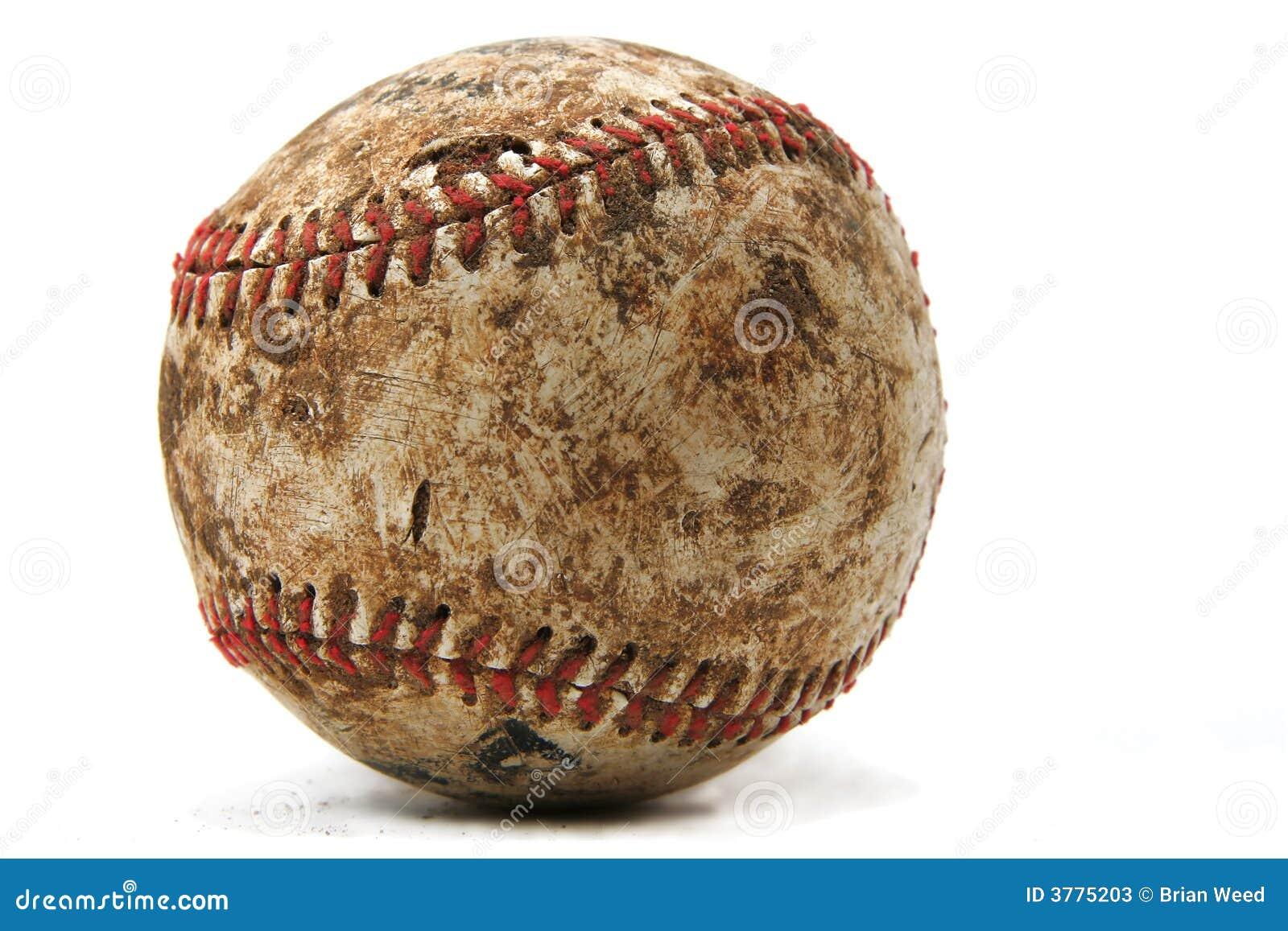 Viejo béisbol desgastado imagen de archivo. Imagen de aislado - 3775203