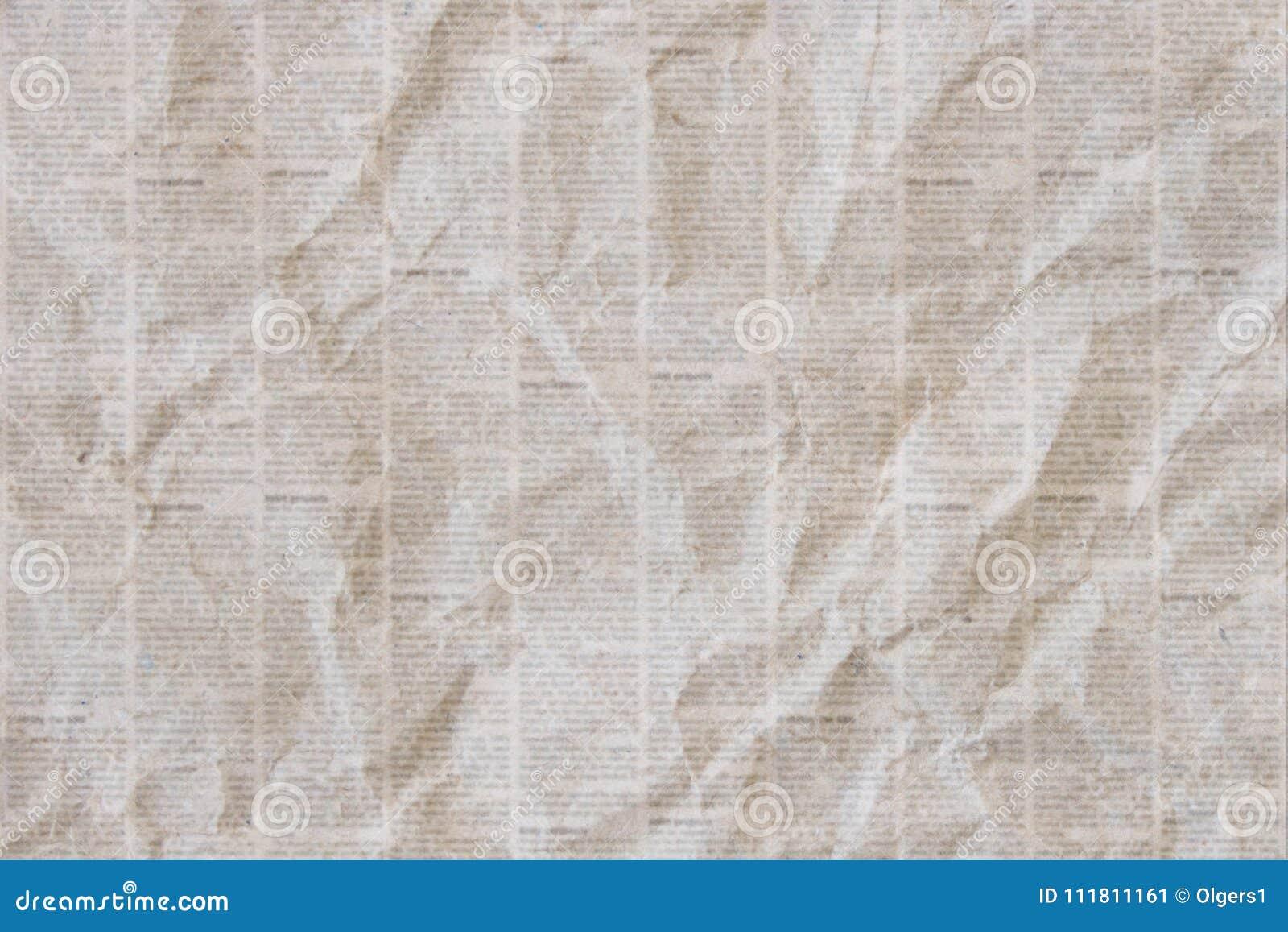 Viejo Fondo Arrugado De La Textura Del Periódico Stock De
