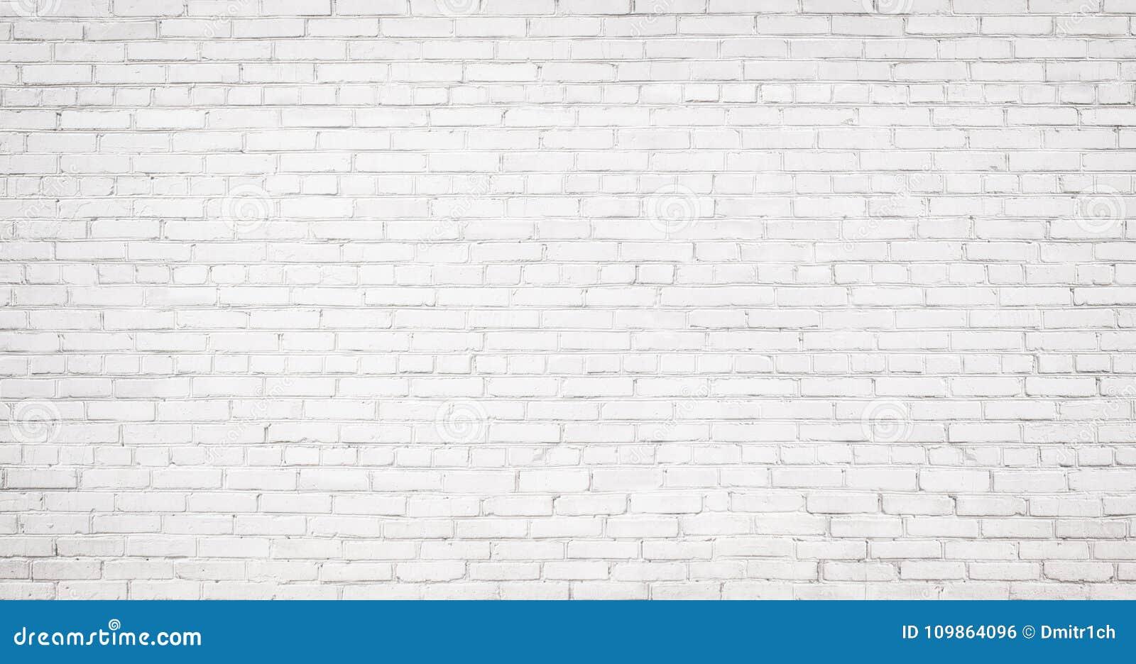 Viejo fondo blanco de la pared de ladrillo, textura del vintage del brickw ligero