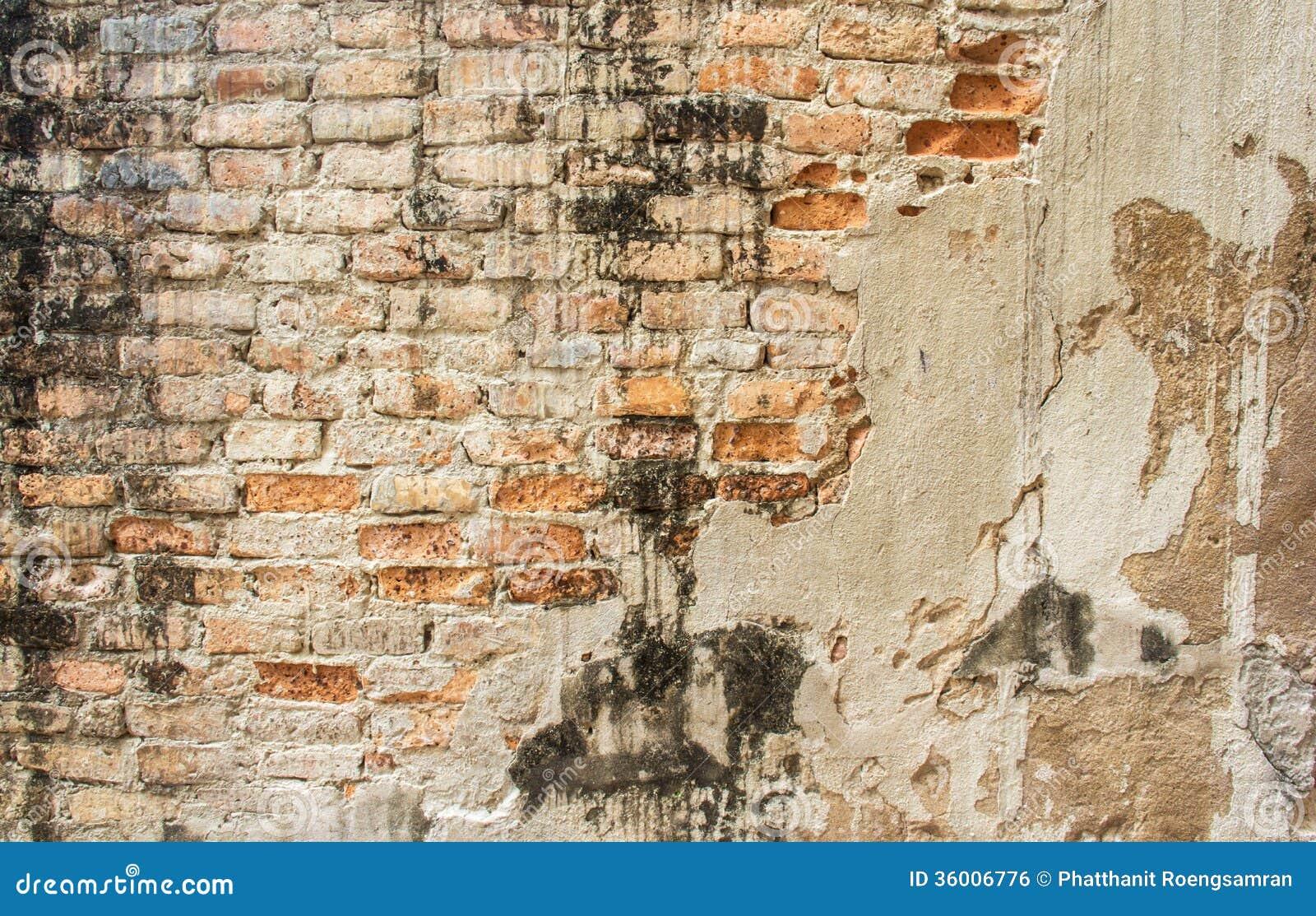 Viejo fondo concreto agrietado de la pared de ladrillo del vintage foto de archivo imagen de - Paredes de cemento ...