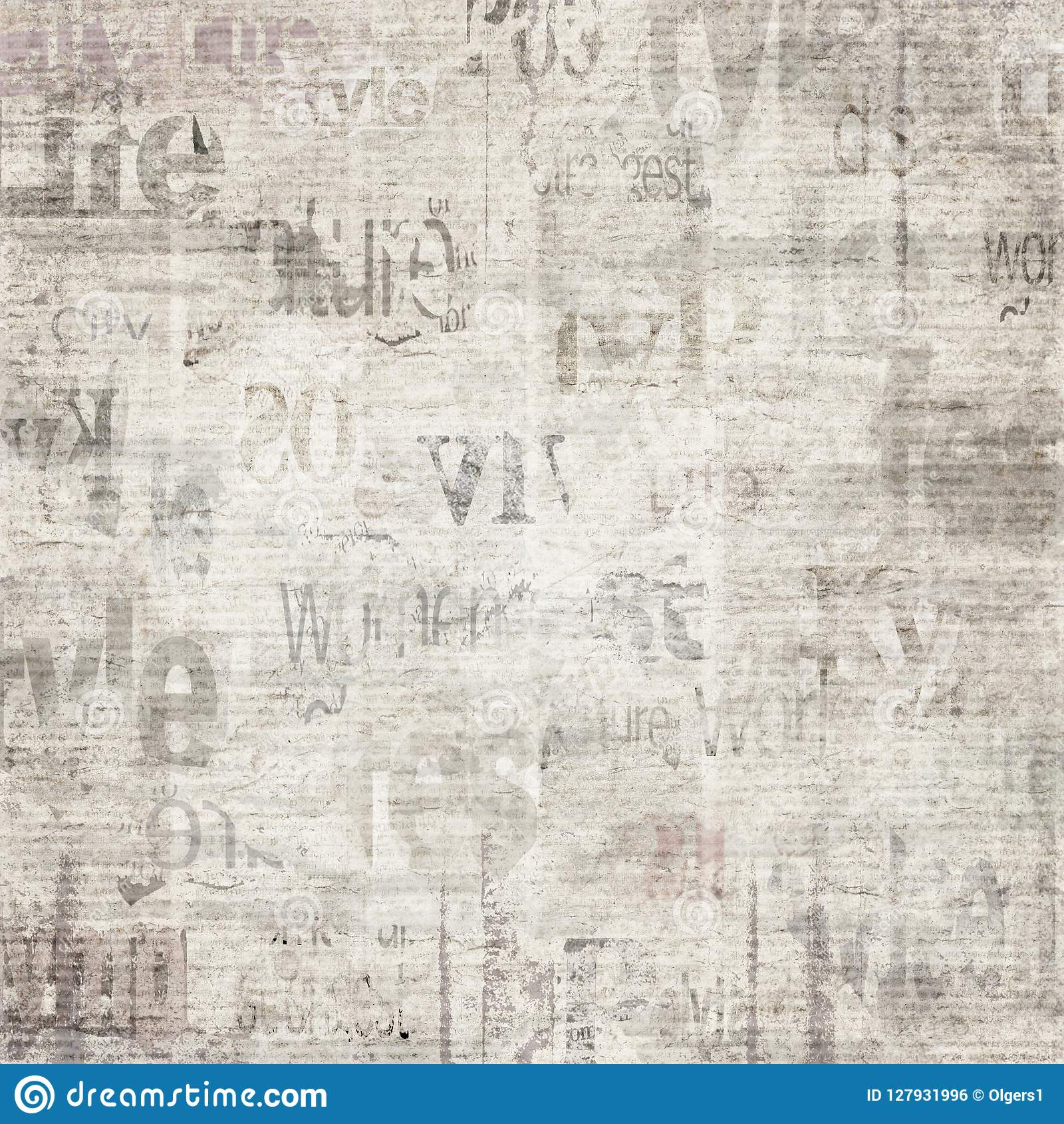 Viejo Fondo De La Textura Del Papel Del Periódico Del Grunge Del