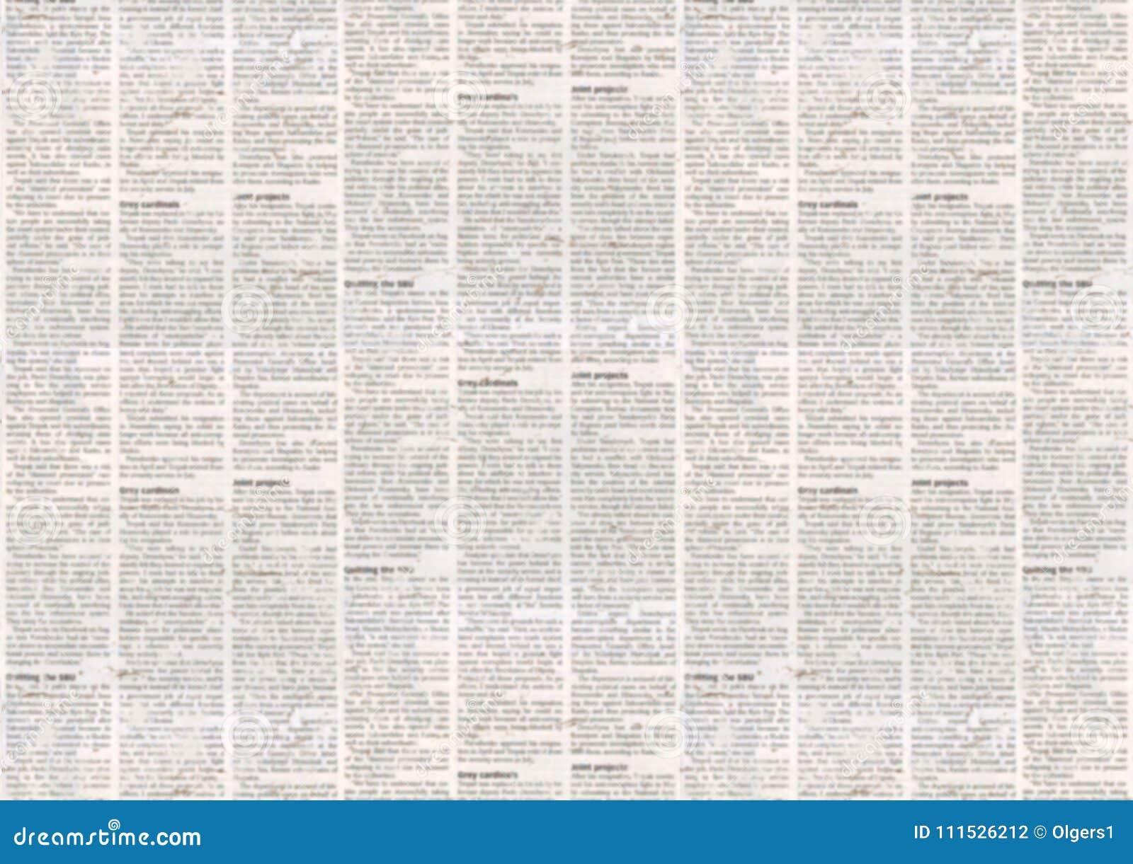 Viejo Fondo De La Textura Del Periódico Stock De Ilustración