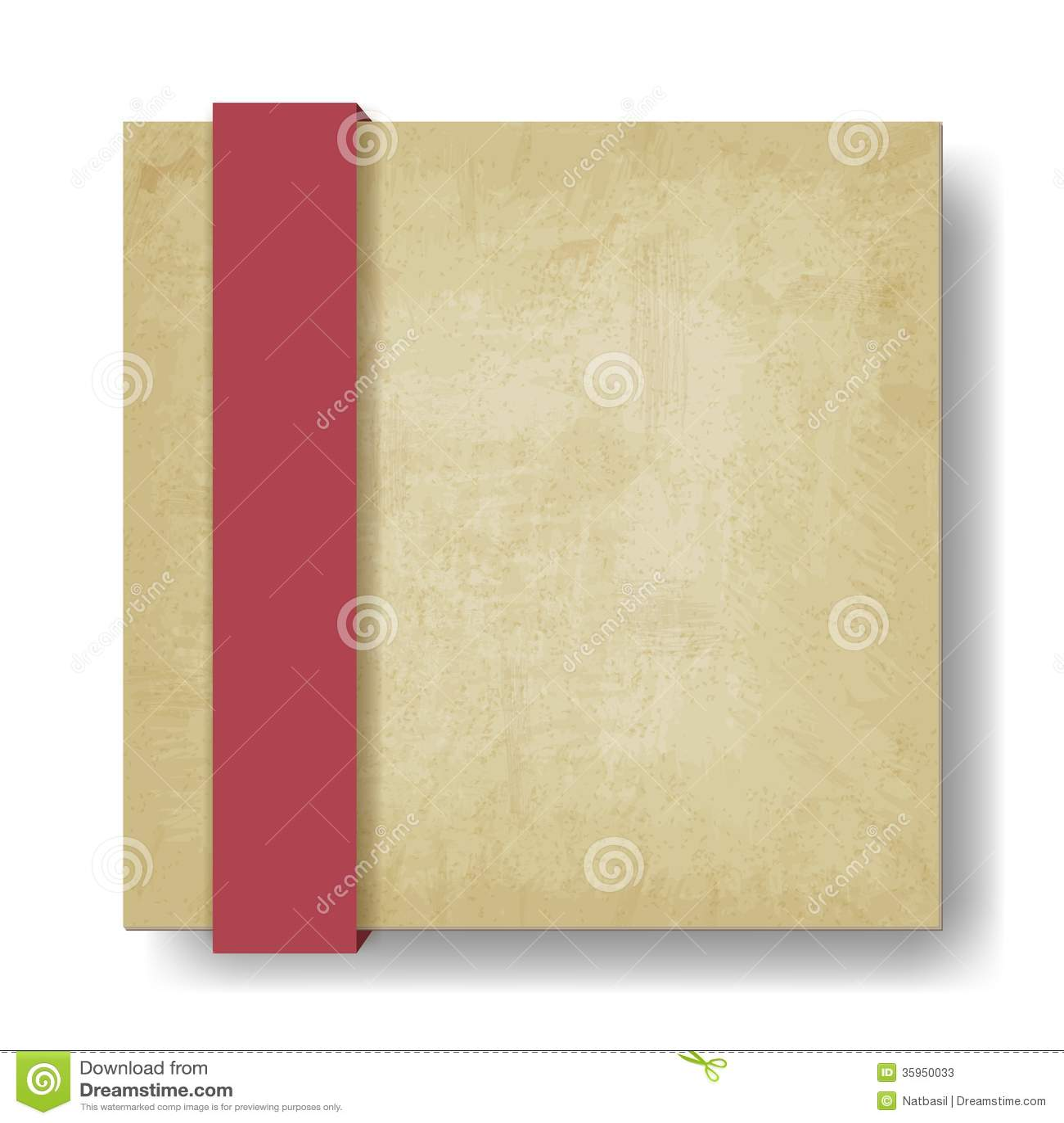 Viejo fondo de papel con la cinta roja