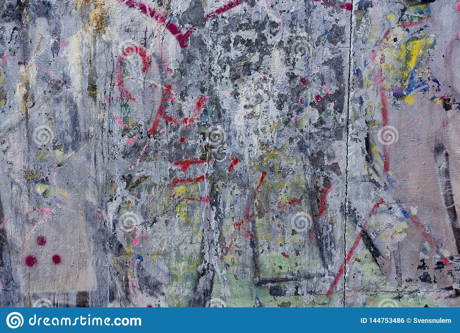 Viejo grunge sucio del graffity del muro de cemento áspero