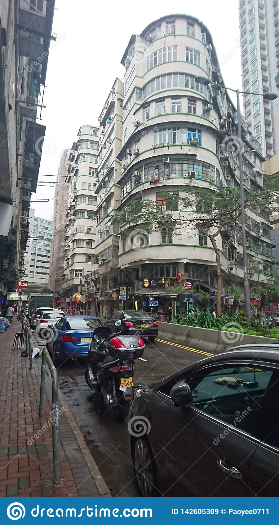 Viejo Hong Kong Building típico