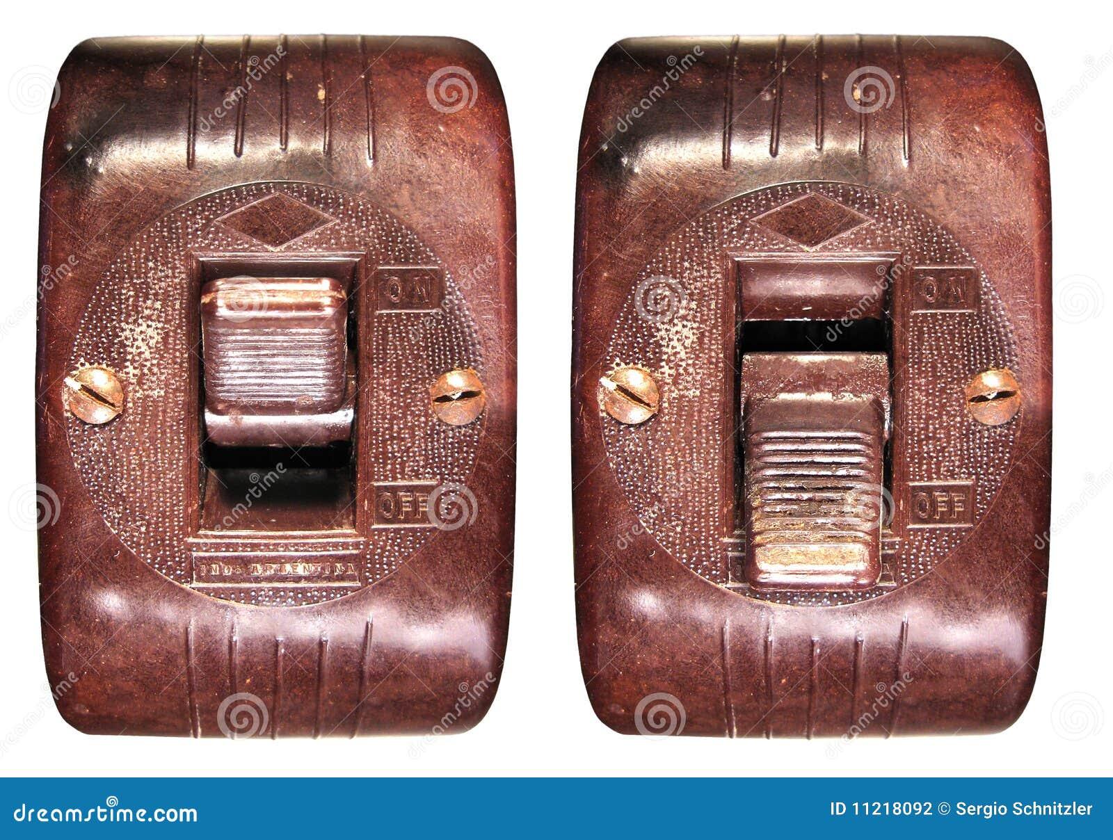 Viejo interruptor de la baquelita