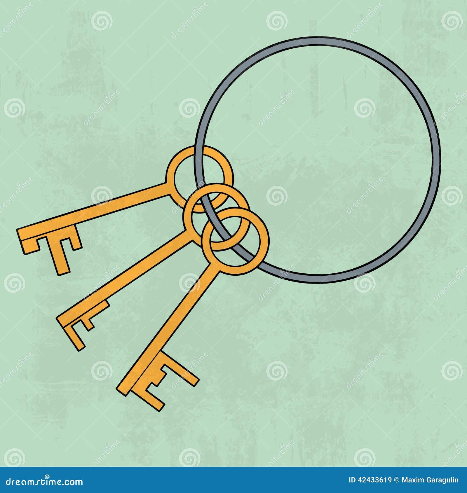 Viejo manojo de los claves icono Ilustración del vector