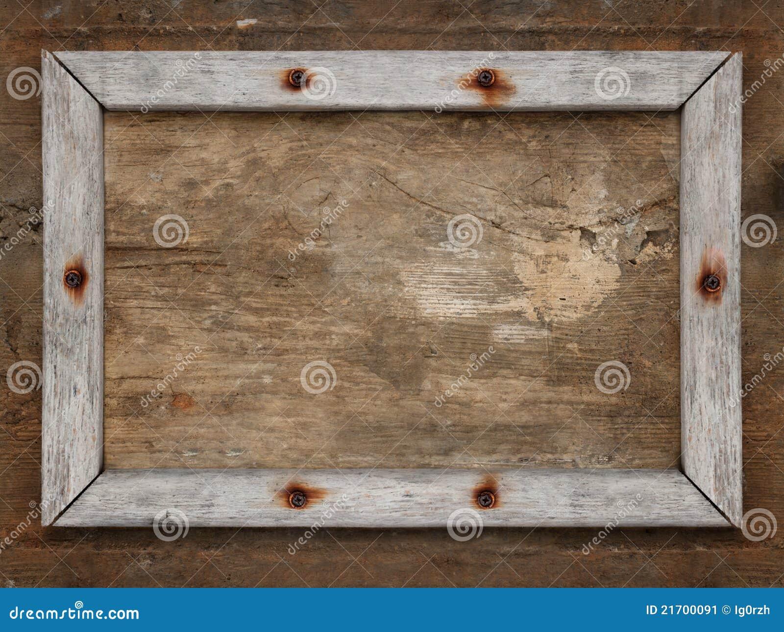 Viejo marco de madera