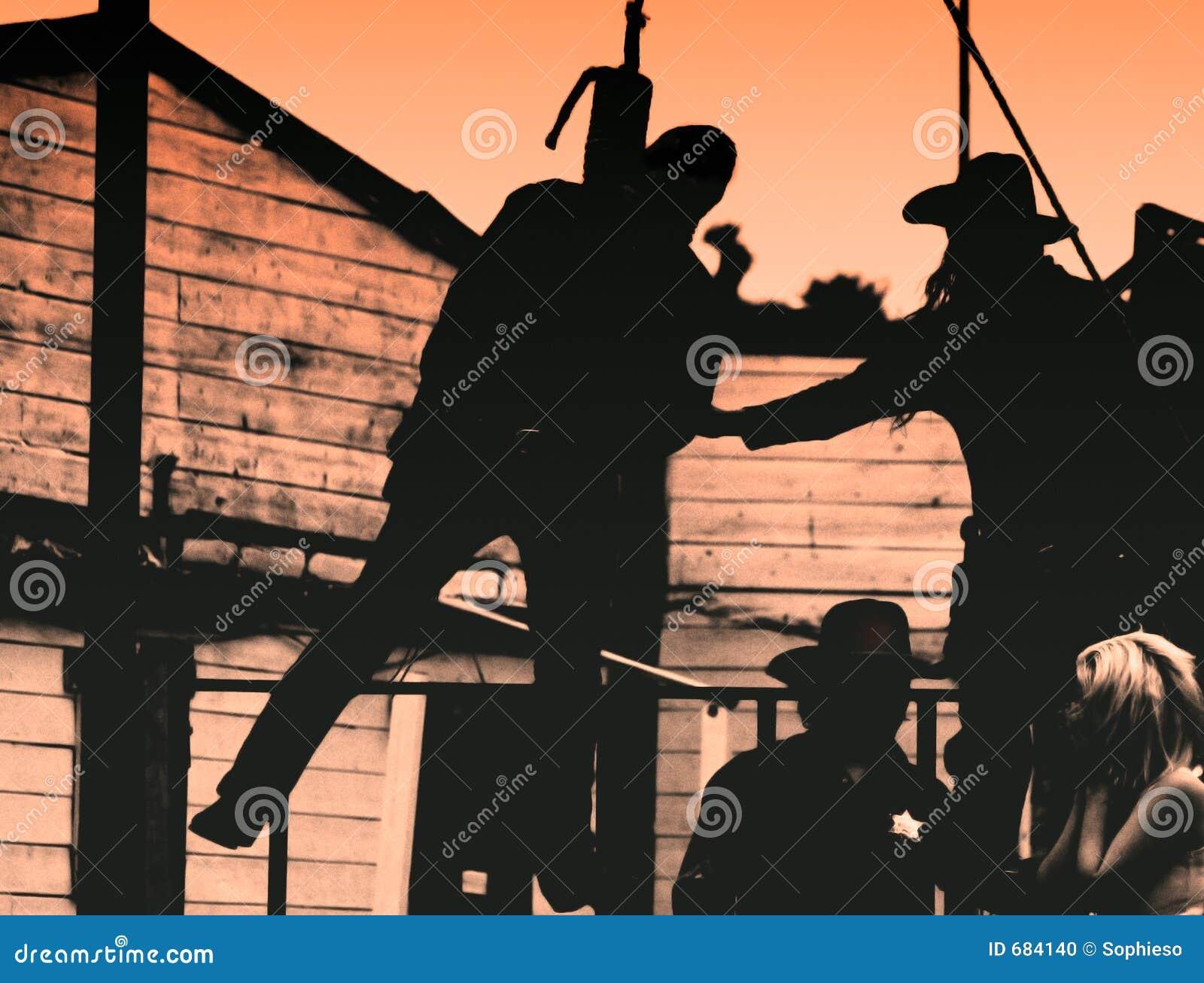 Viejo Oeste-Proscriba cuelga