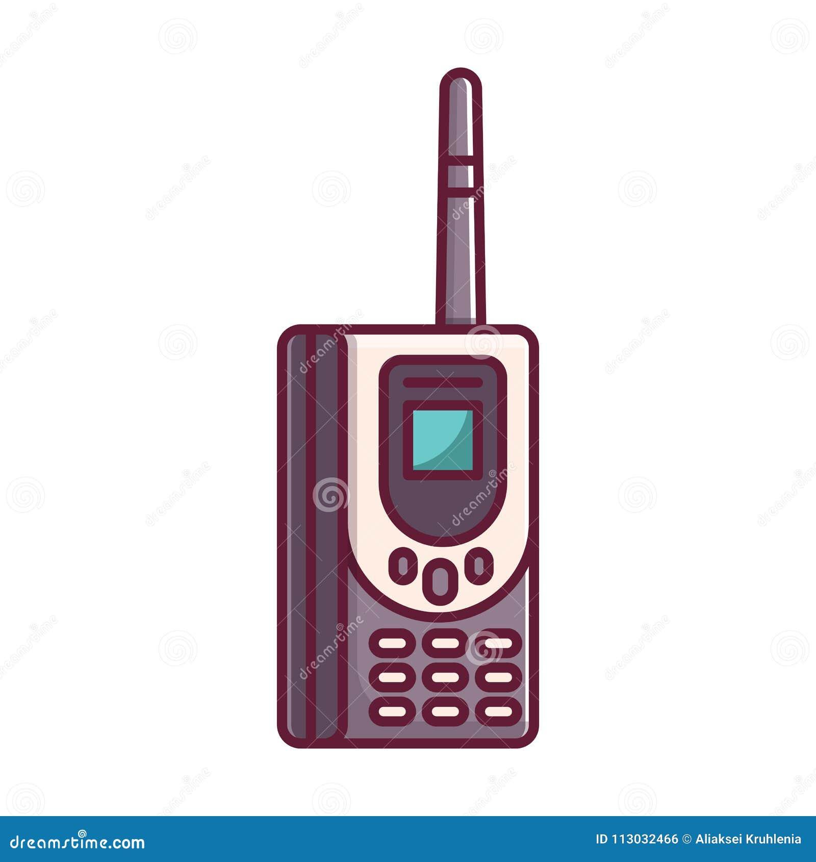 Viejo teléfono móvil retro del ladrillo del vintage
