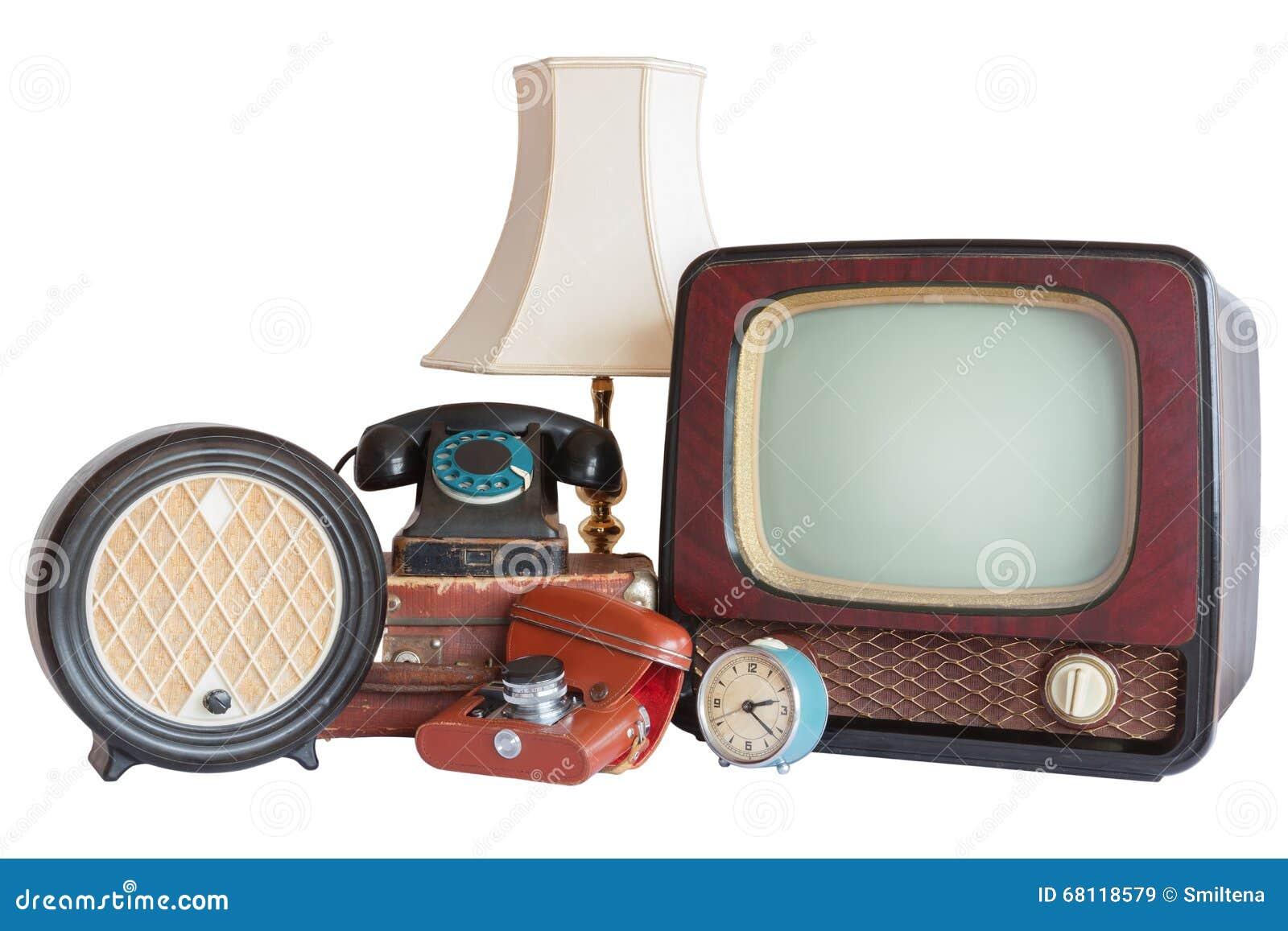 Viejos art culos del hogar tv radio c mara alarma for Accesorios hogar