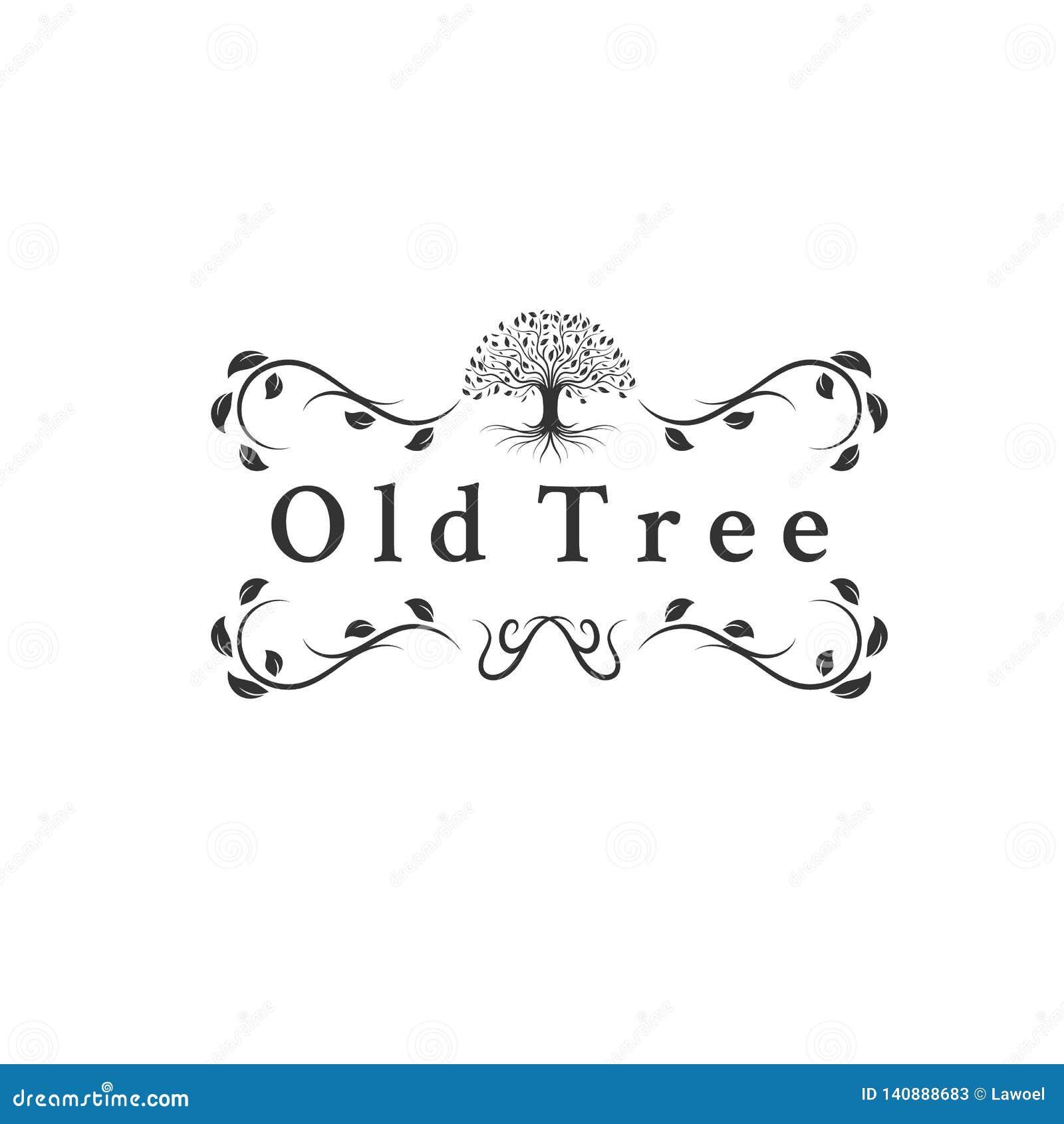Viejos diseños del logotipo de los árboles