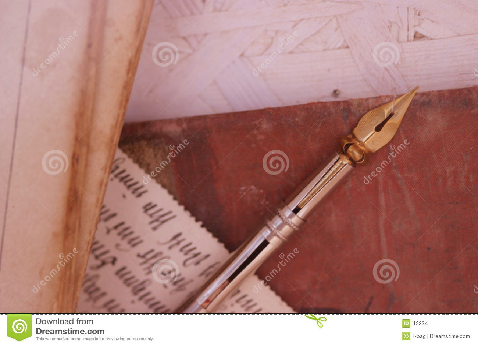Viejos lápiz y cursivo