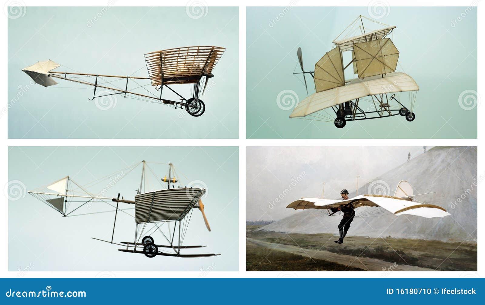 Viejos planos: collage del transporte aéreo