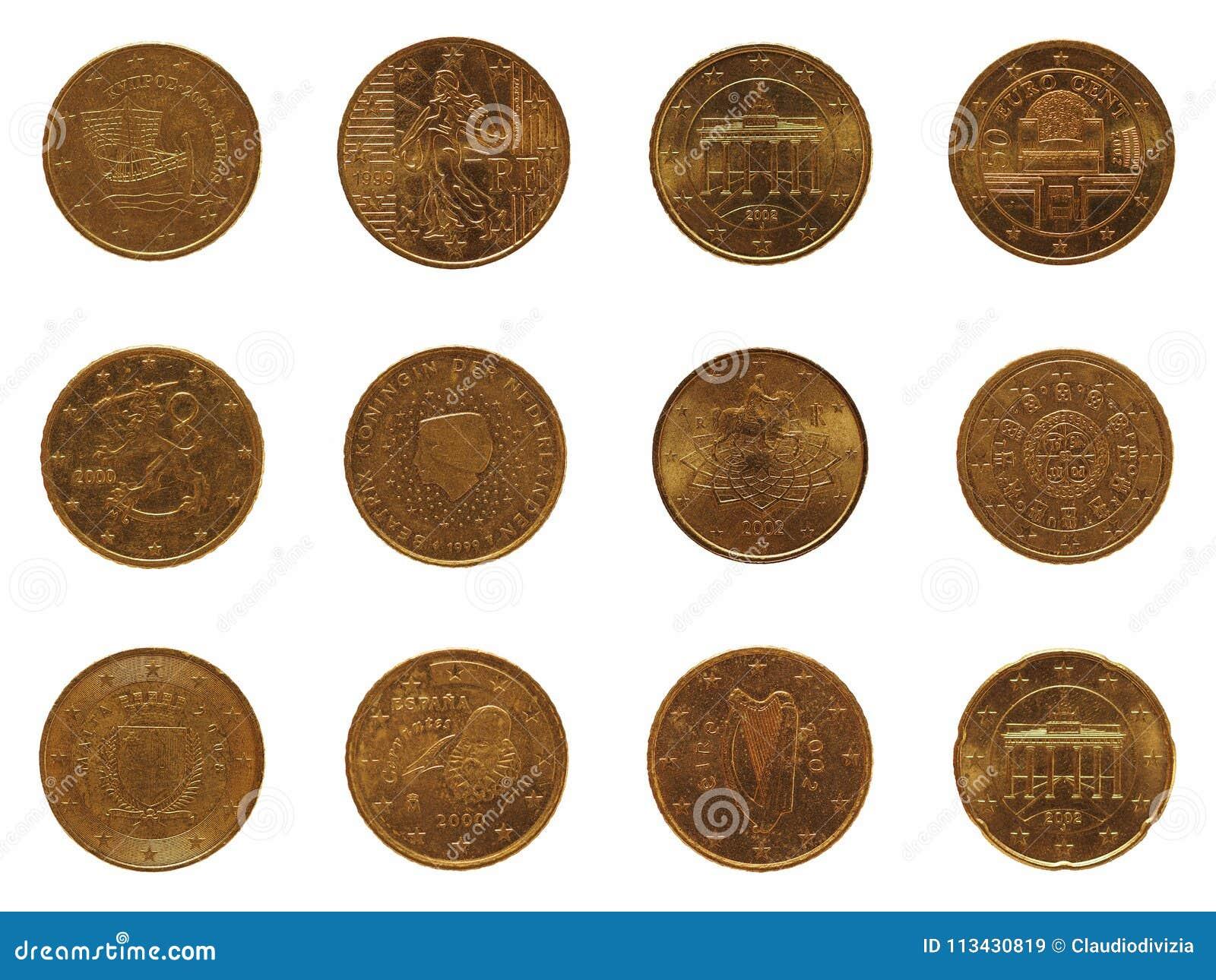 Viel 20 Cent Münze, Europäische Gemeinschaft Stockbild   Bild von ...