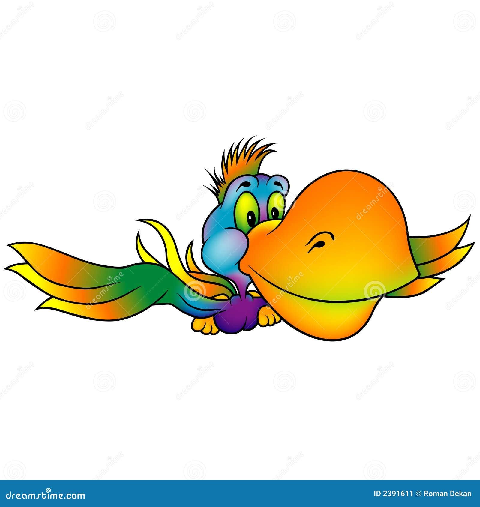 Viel-farbiger Papagei