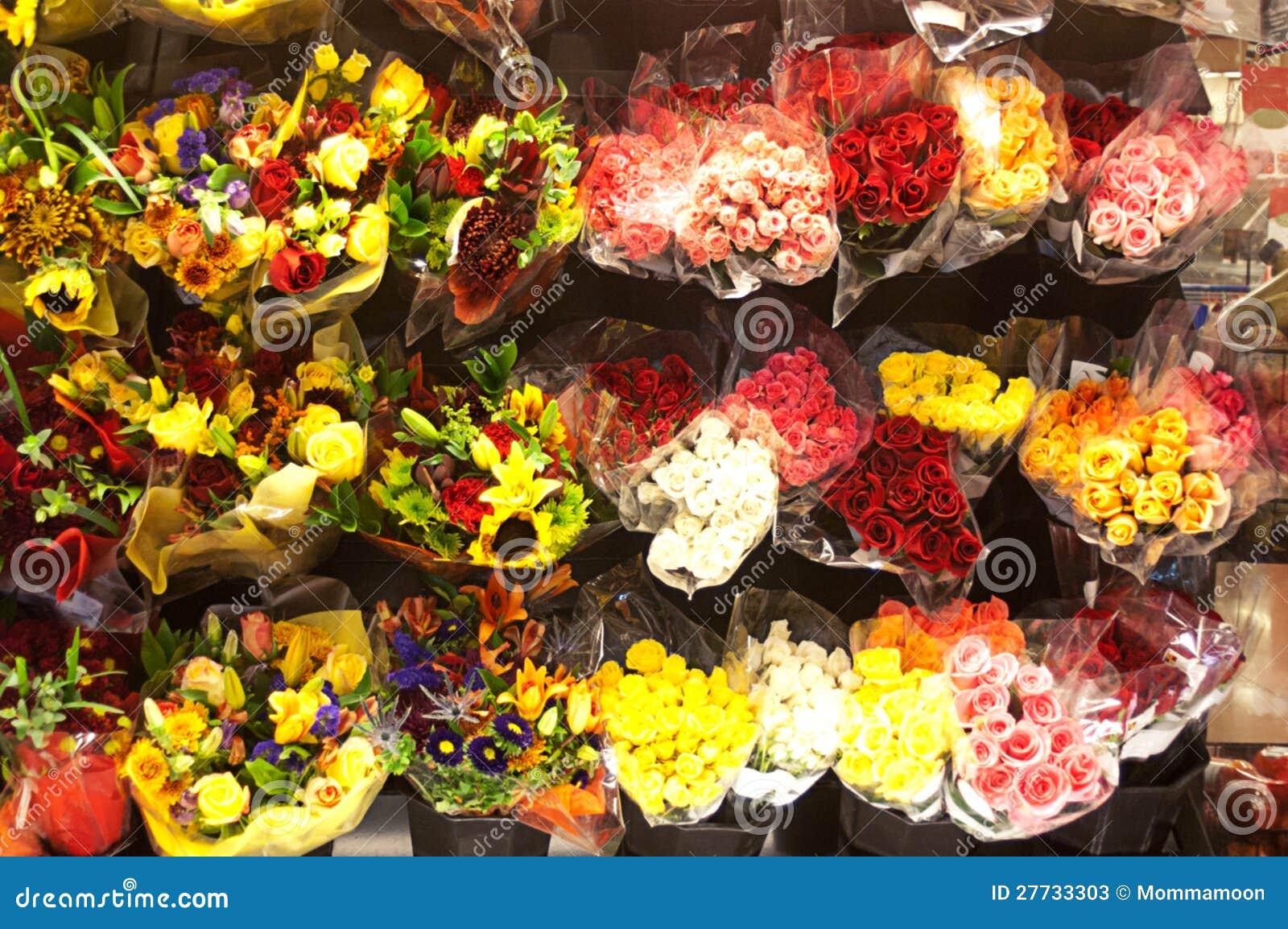 Viele Blumensträuße im Blumen-System