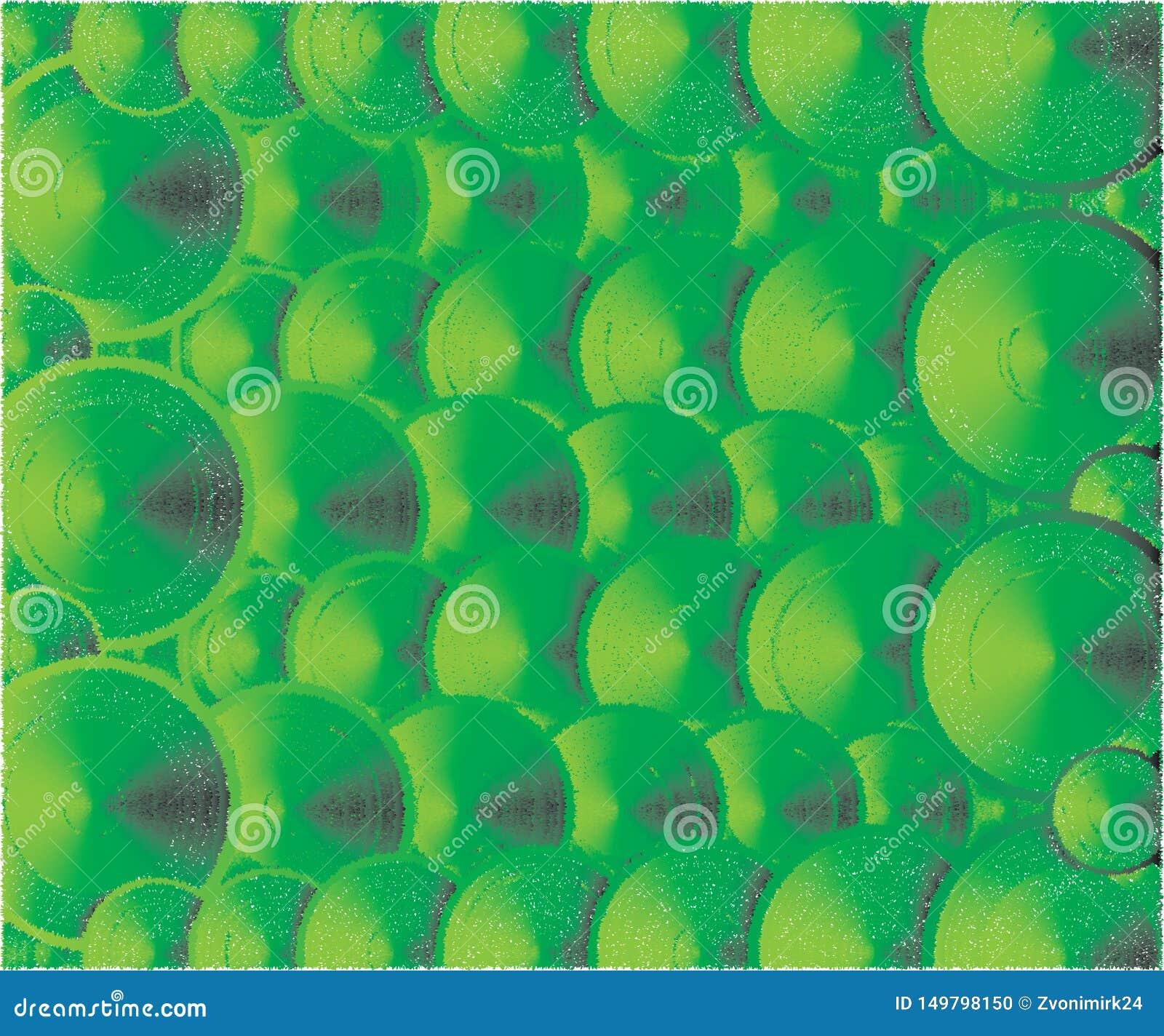 Viele Deckel in einen Platz-, Grünen und Gelbenfarben