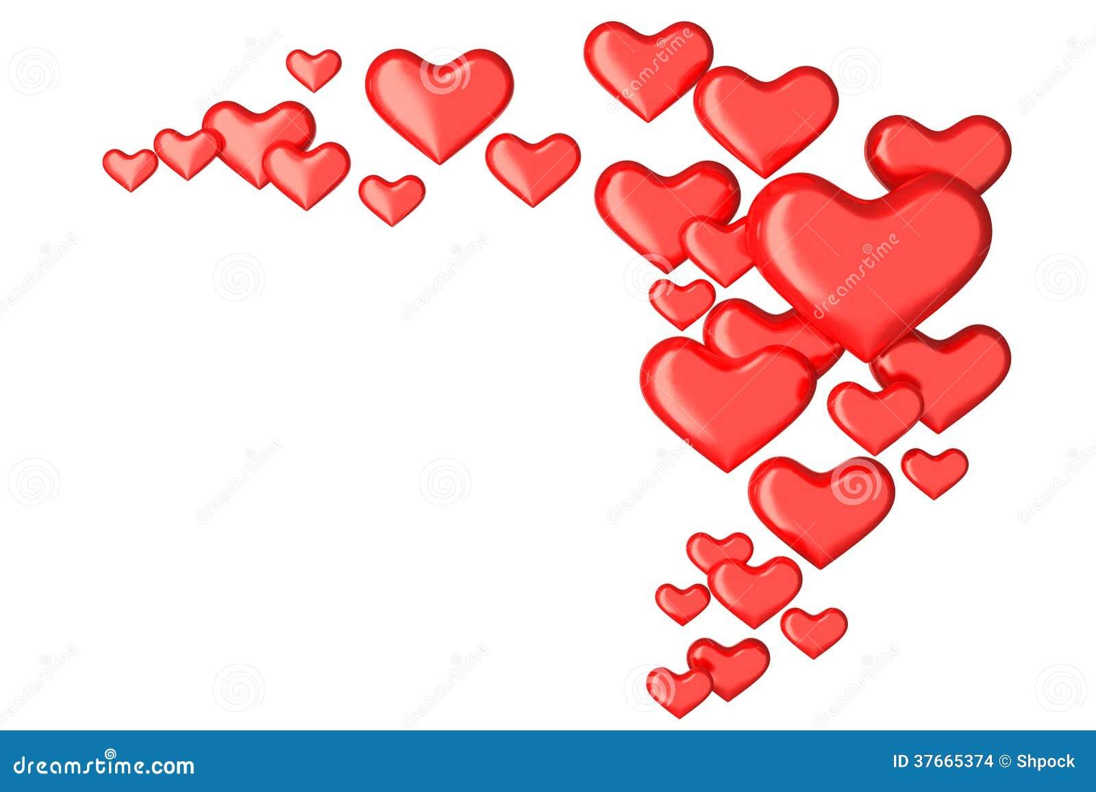Viele herzen 3d auf wei stockbilder bild 37665374 - Herzchen bilder ...