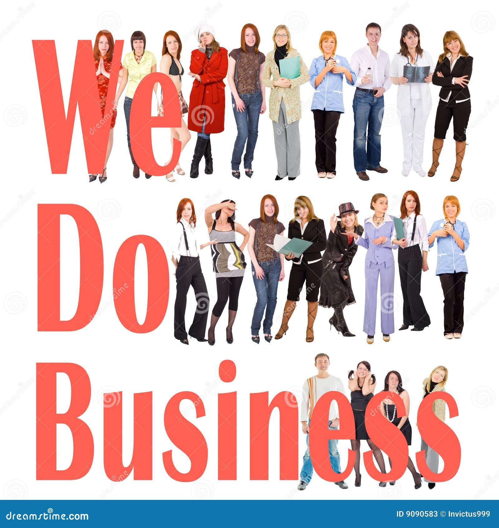 Viele Leute, die irgendein Geschäft tätigen