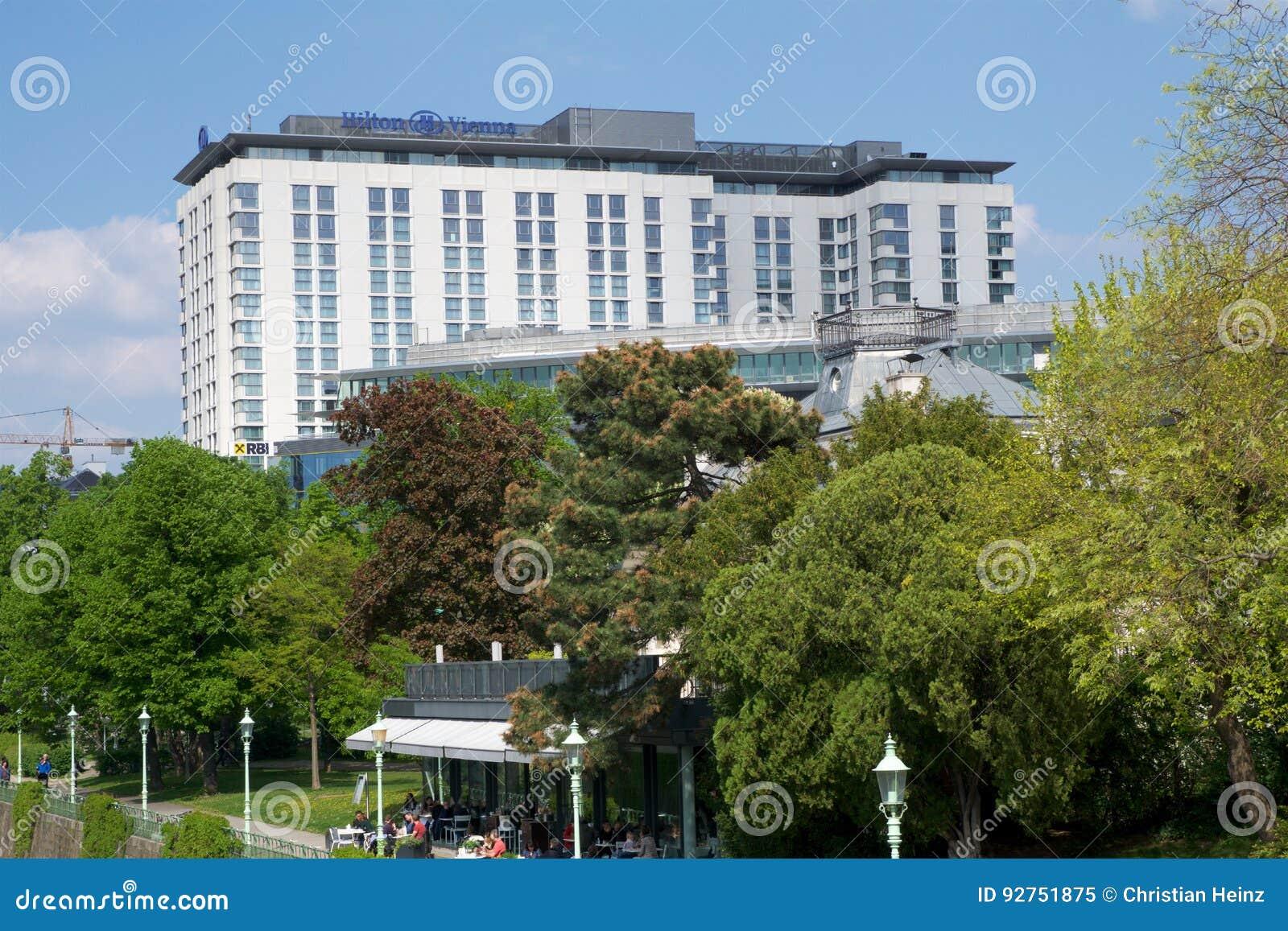 Vienna Austria Apr 30th 2017 Outside View Of The Hilton Vienna