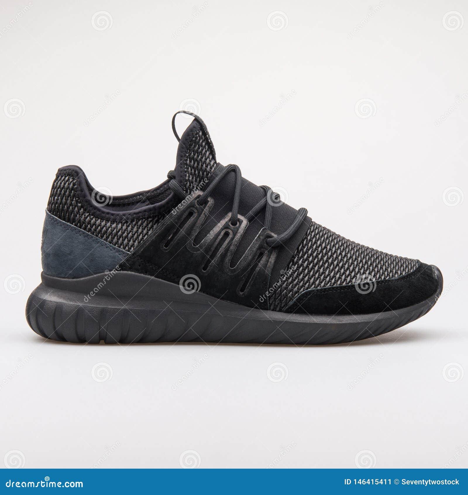 brand new 255d8 363ed Adidas Tubular Radial Black Sneaker Editorial Photo - Image ...