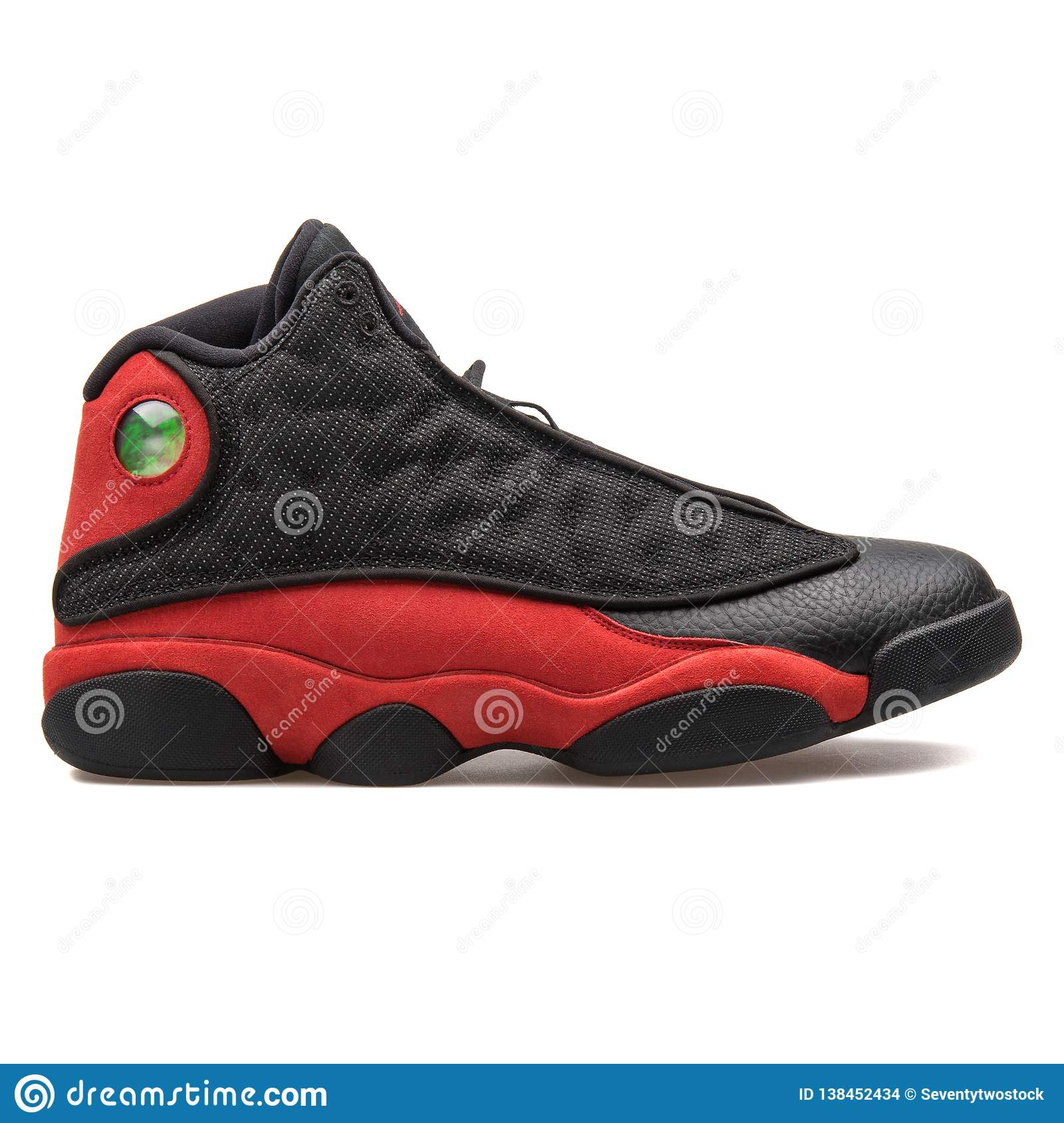 bd4c0aa9 VIENNA, AUSTRIA - AUGUST 7, 2017: Nike Air Jordan 13 Retro black and red  sneaker on white background. More similar stock images
