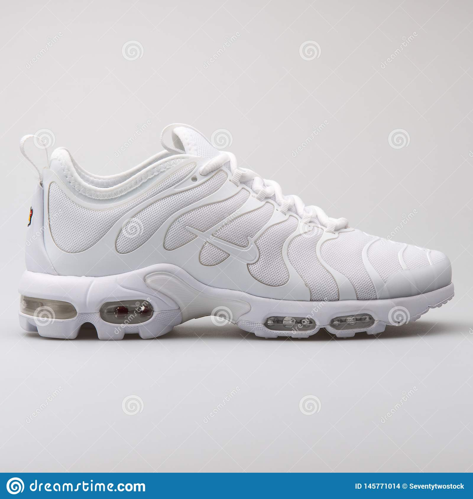 half off ca560 1ab2e Nike Air Max Plus TN Ultra White Sneaker Editorial Stock ...