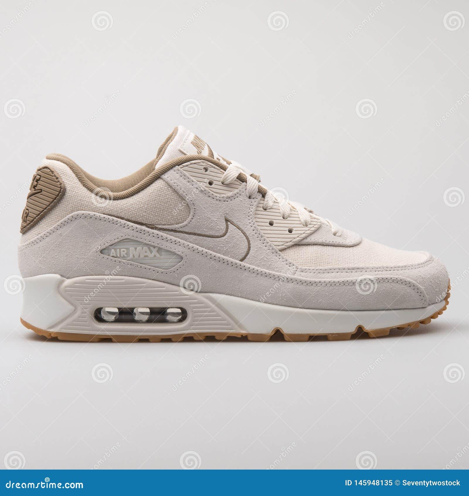 Nike Air Max 90 Premium Beige Sneaker Editorial Image - Image of ...