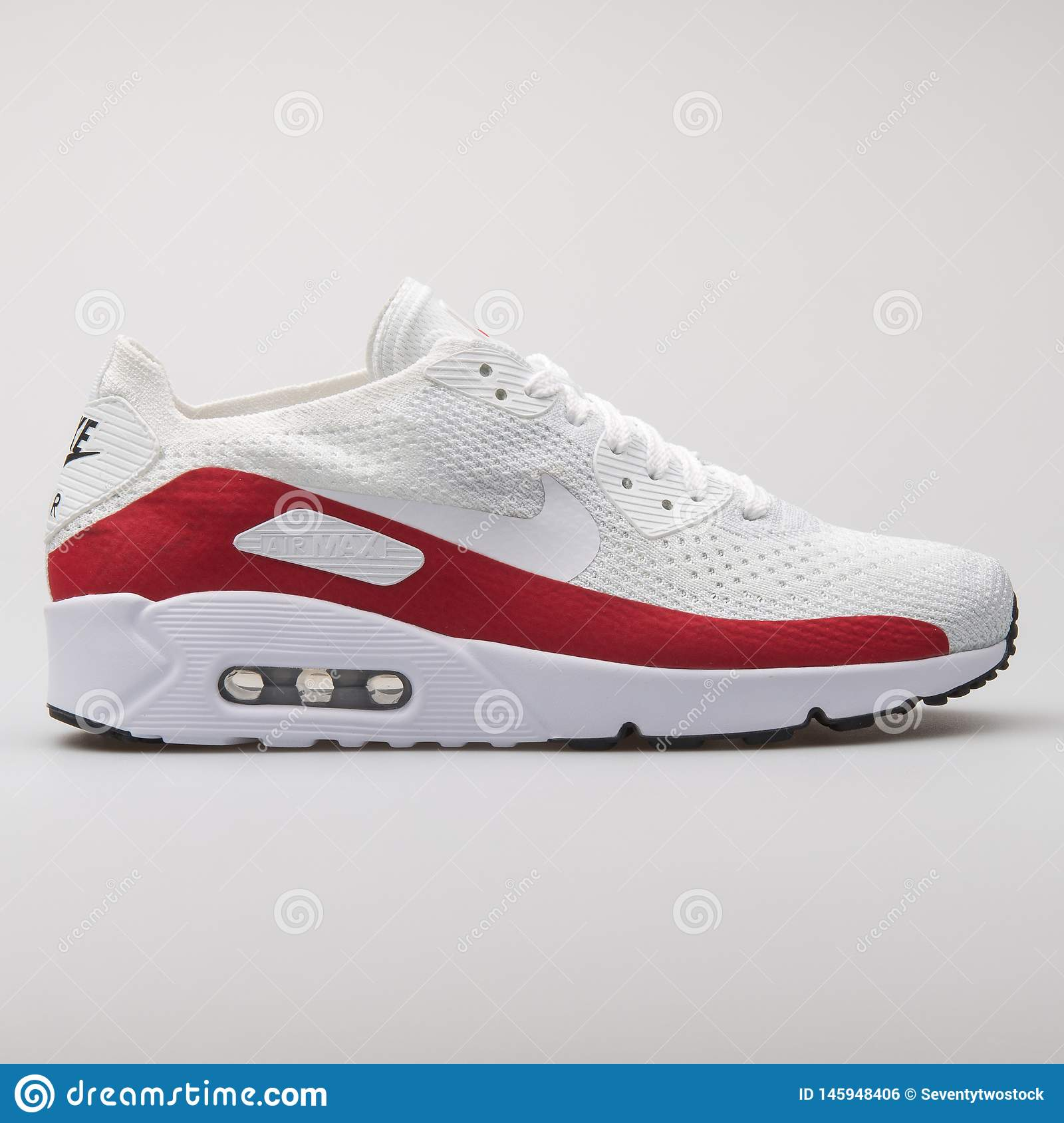 separation shoes 77391 74a34 Nike Air Max 90 Ultra 2.0 Flyknit White And Red Sneaker ...