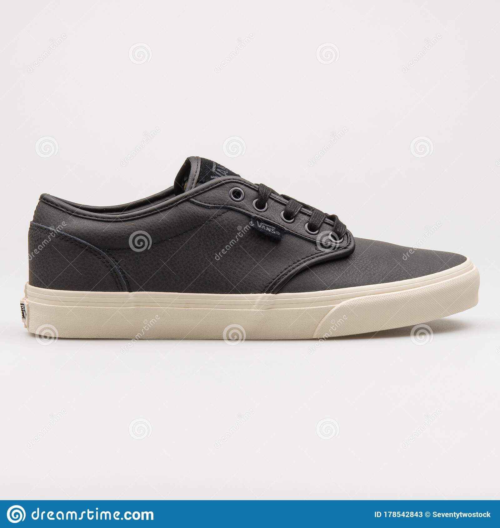 Vans Atwood Leather Black And Beige Sneaker Editorial Stock ...