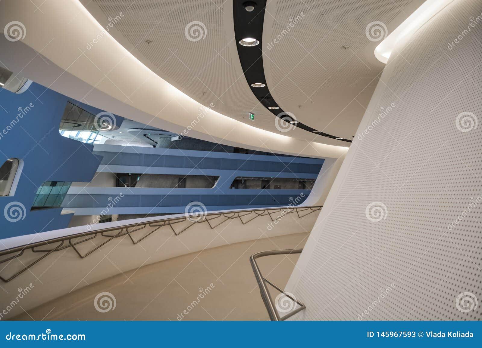 Vienna, Austria 2 03 2019 Biblioteca dell universit? economica Costruzione moderna all interno