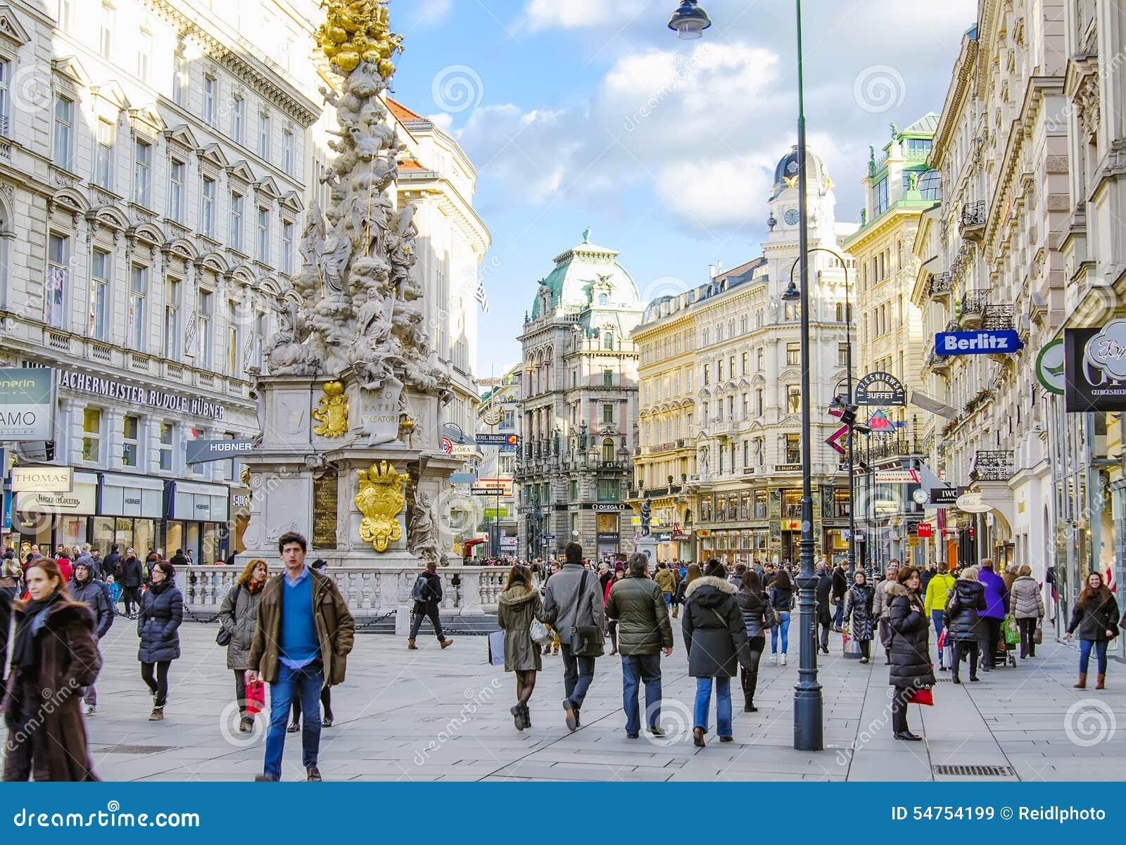 Vienna austria graben street editorial stock image - Office de tourisme de vienne autriche ...