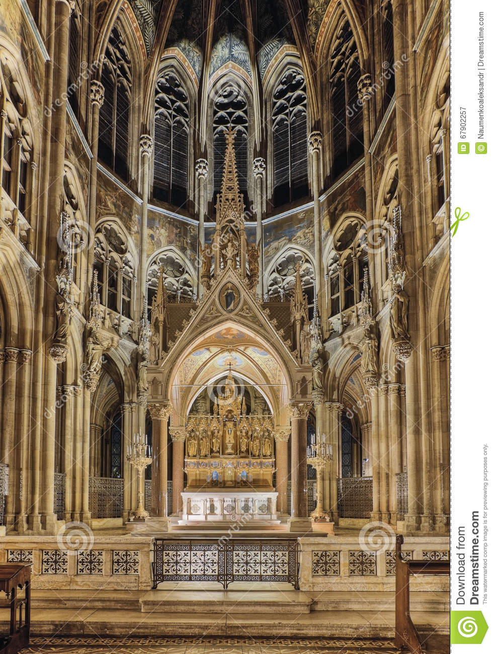 Vienna Austria Interior Votive Church Is A Neo Gothic
