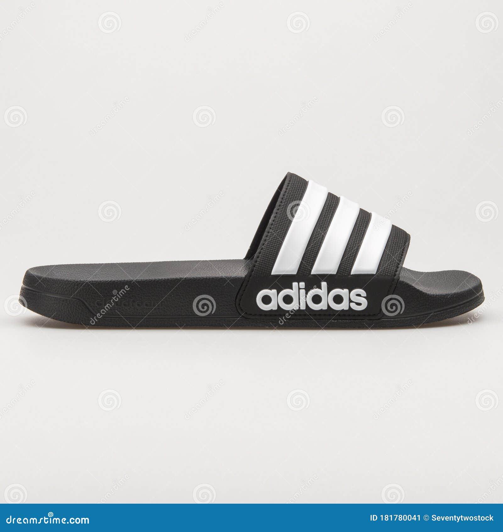 Adidas Adilette Shower Black And White