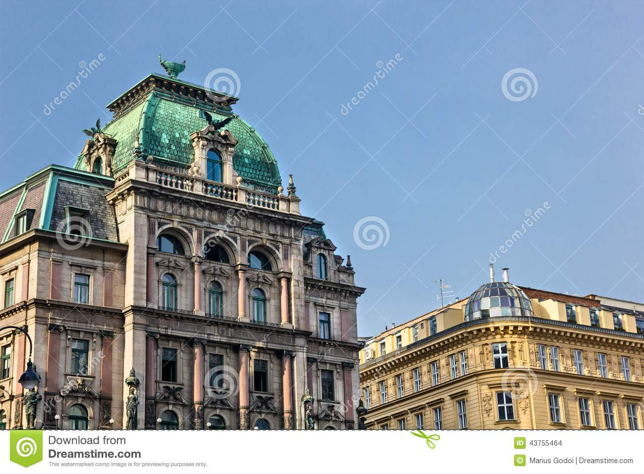 Vienna buildings architecture stock photo image 43755464 for Architecture vienne