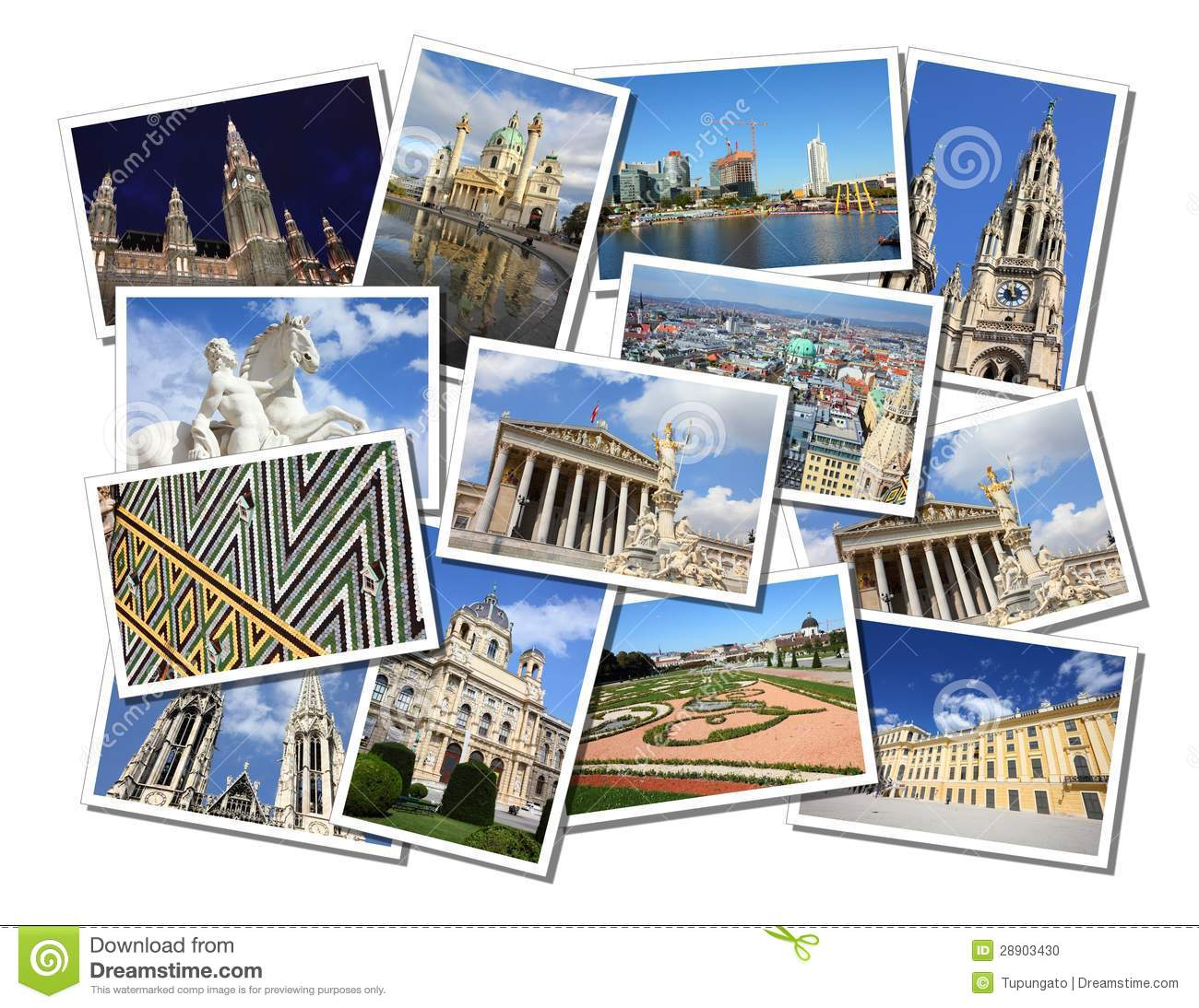Vienna Postcards Stock Photo Image Of Postcard Pictures