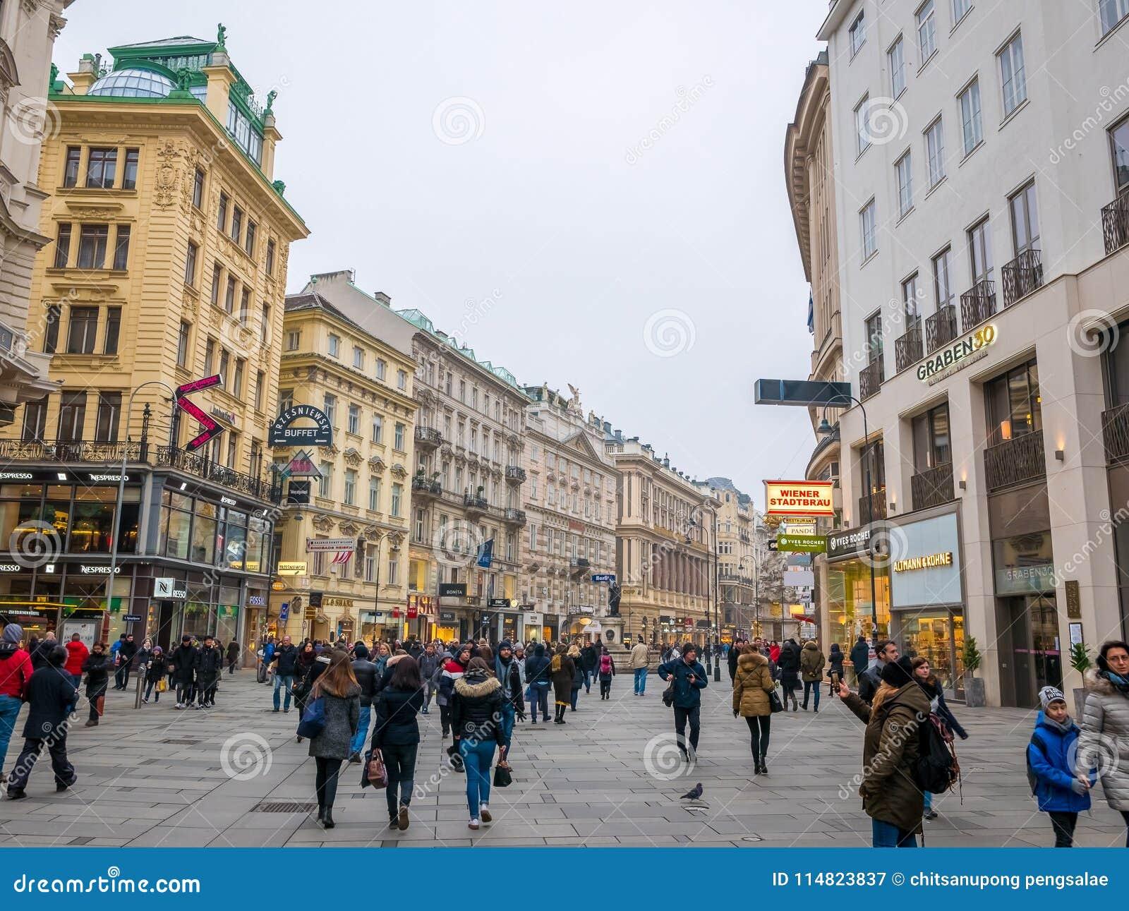 VIENNE, AUTRICHE 17 FÉVRIER 2018 : Vues de paysage urbain d une de ` s de l Europe la plupart de belle ville