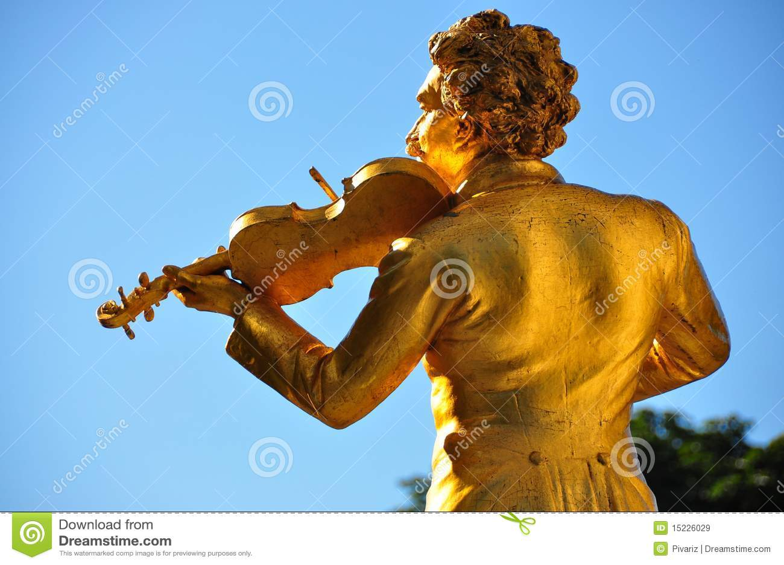 Vienne - statue de J.Strauss dans Stadtpark