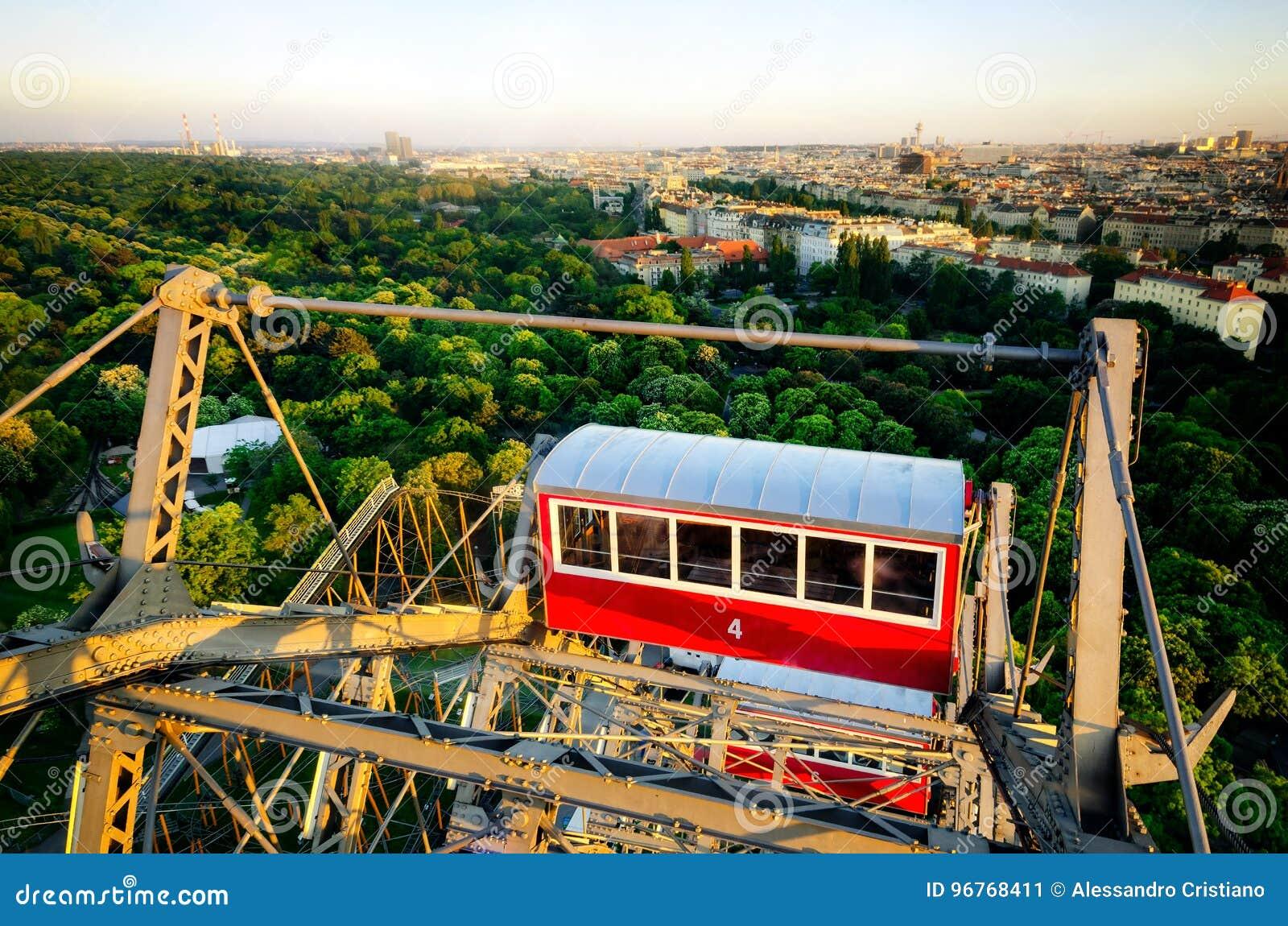 Vienne vue du Prater Riesenrad