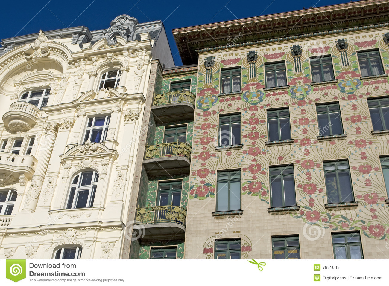 Viennese architecture art nouveau otto wagner stock image for Art architectural
