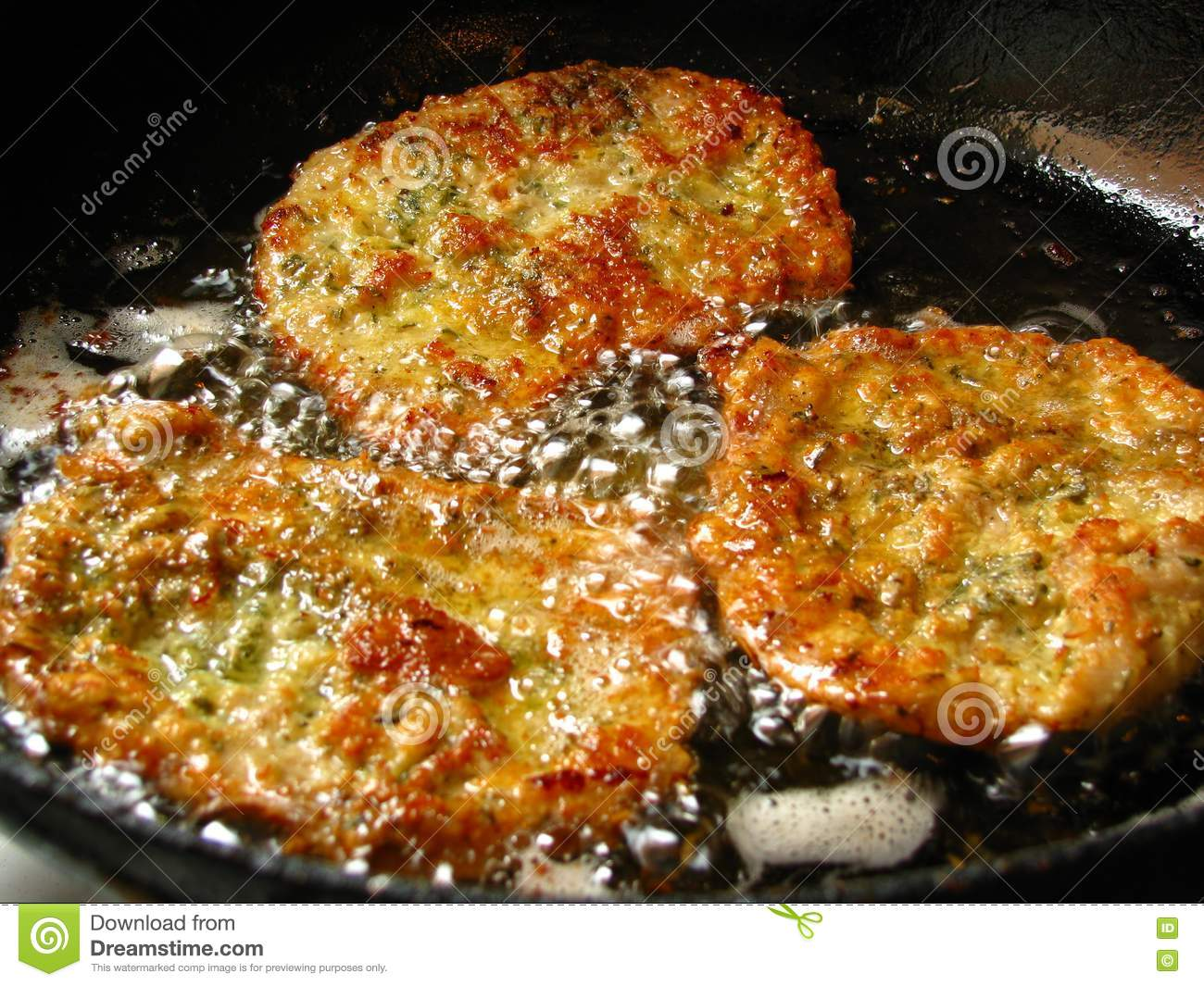 Download Viennese schnitzel stock image. Image of delectable, dice - 9584289