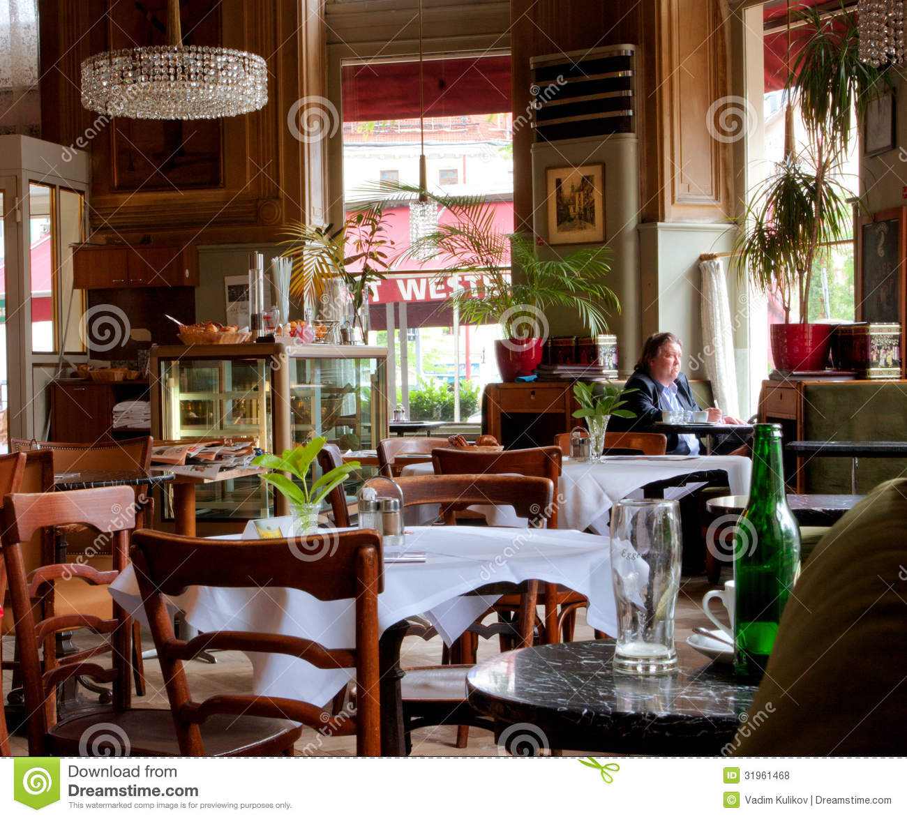 Viennese Style Interior Design And People Inside Editorial