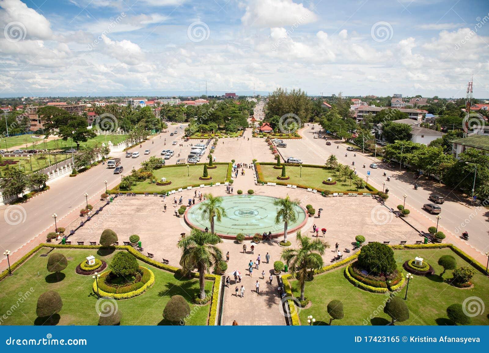 Vientiane, capital du Laos.