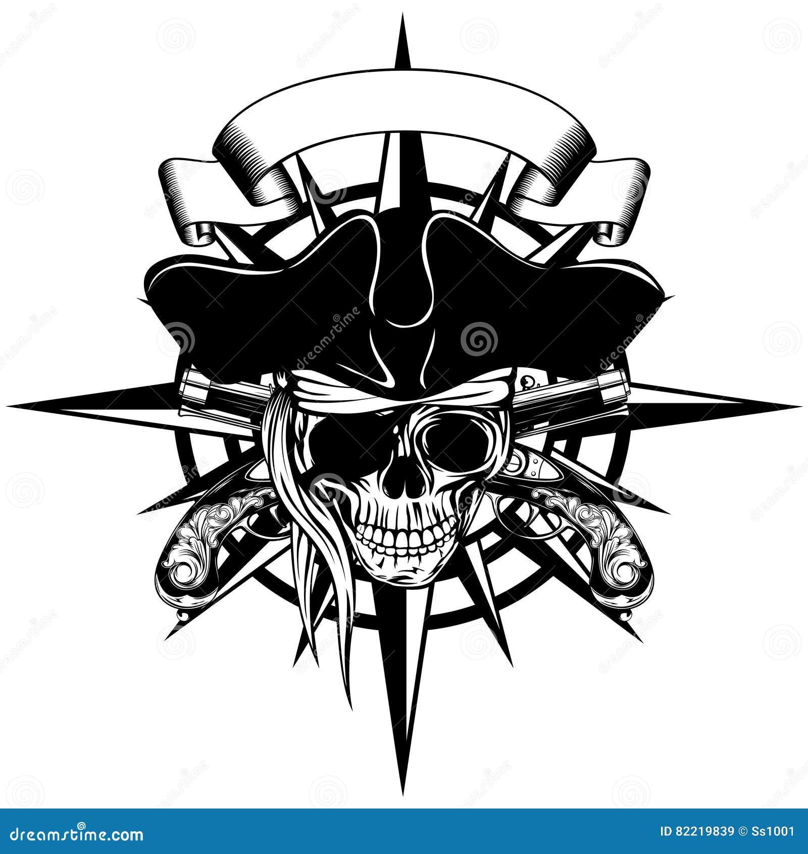 Viento Color De Rosa Y Pirata Ilustración del Vector - Ilustración ...